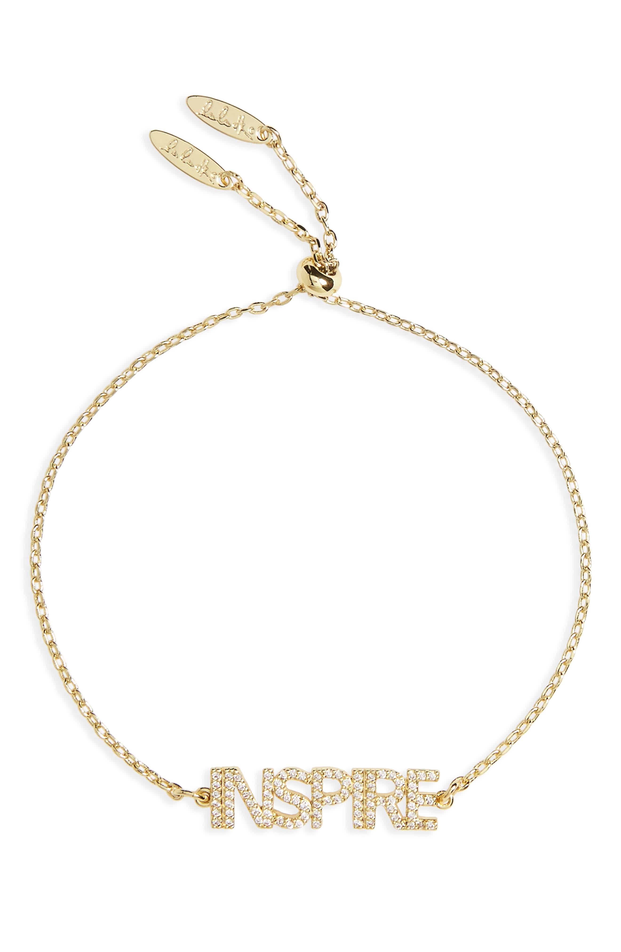 Inspire Bracelet,                         Main,                         color, Gold