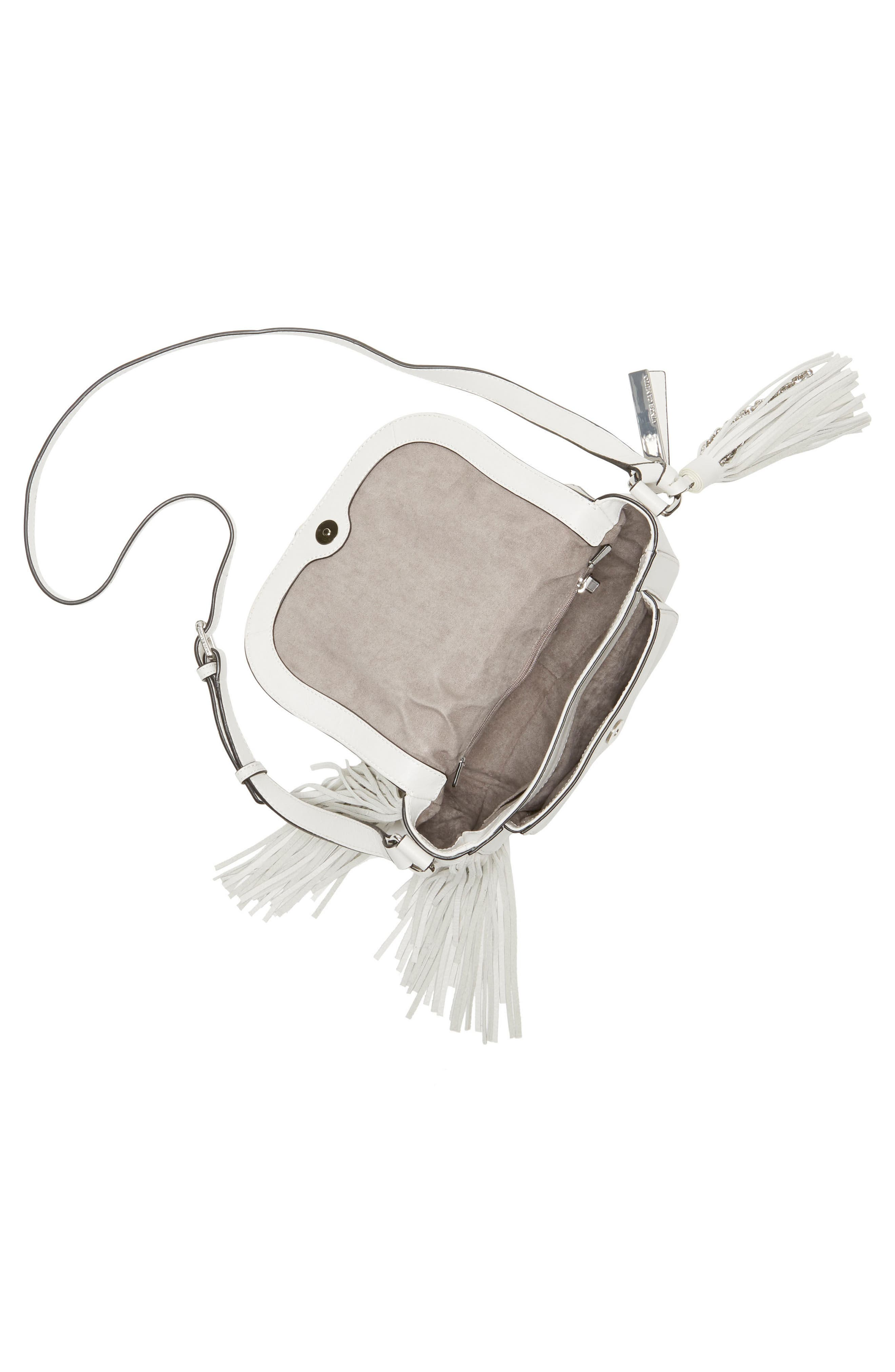 Hil Leather Crossbody Bag,                             Alternate thumbnail 3, color,                             Vaporous Grey