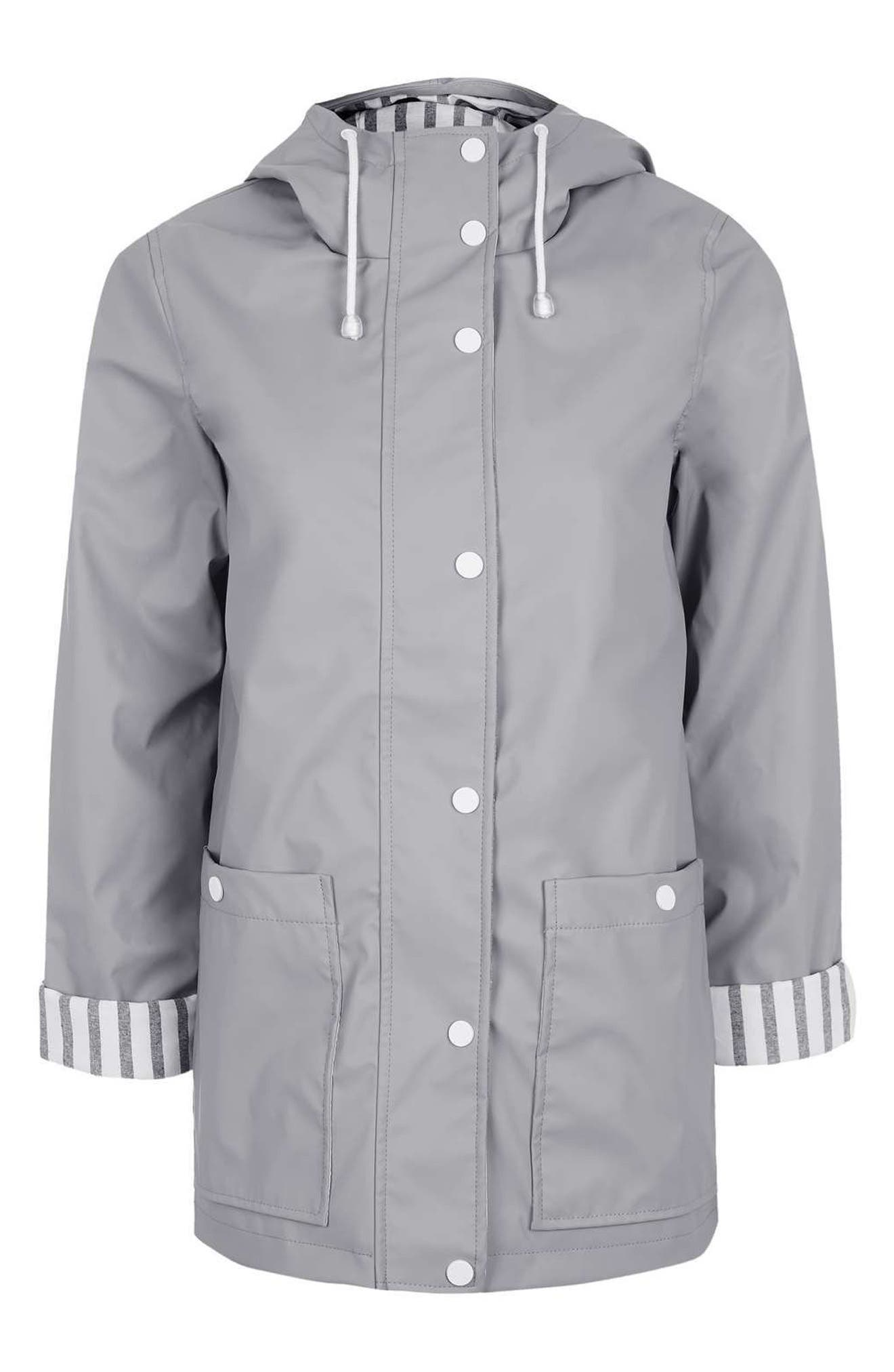 Maisie Rain Jacket,                             Alternate thumbnail 6, color,                             Grey Multi
