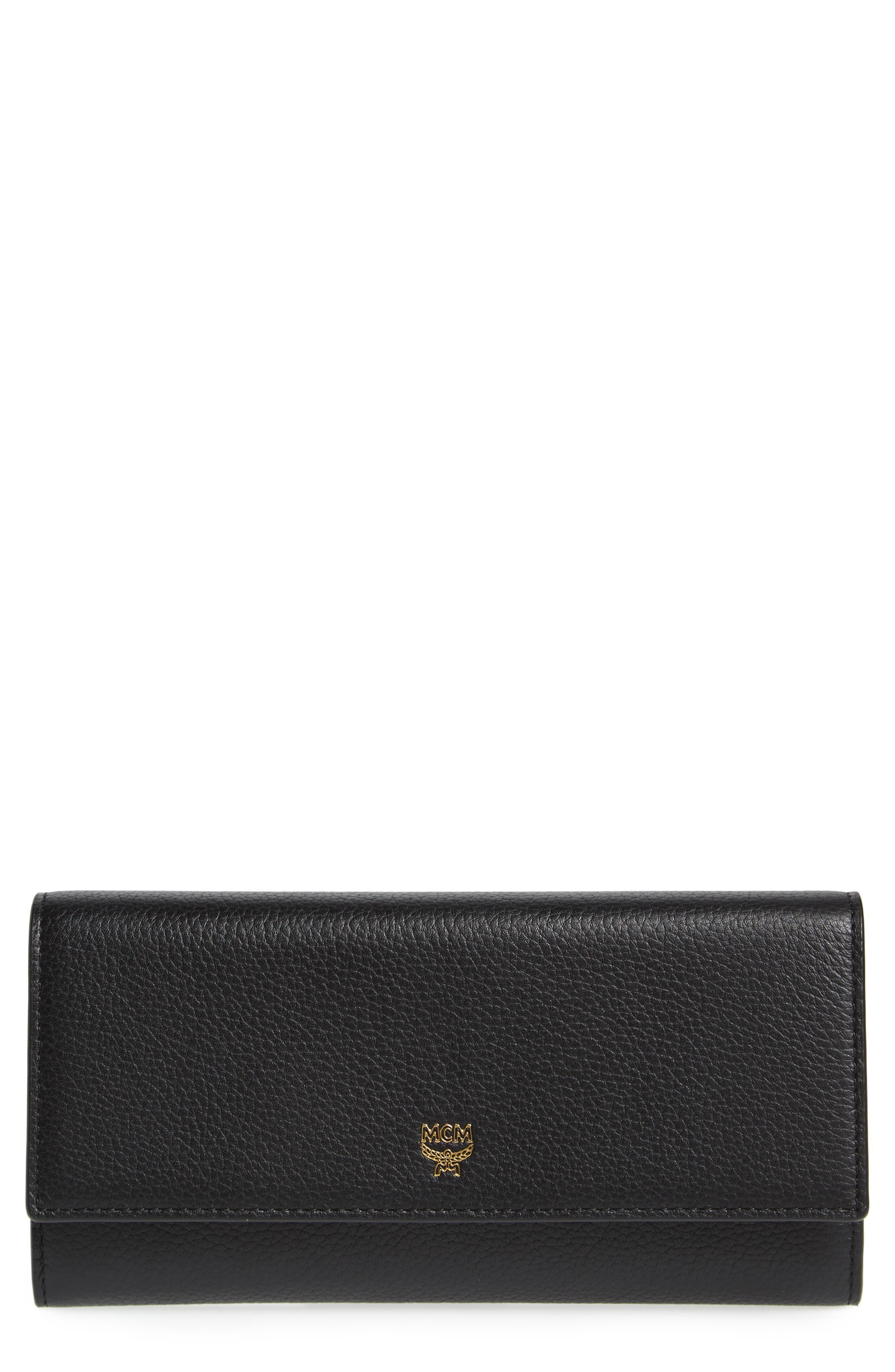 MCM Milla Three-Fold Leather Wallet
