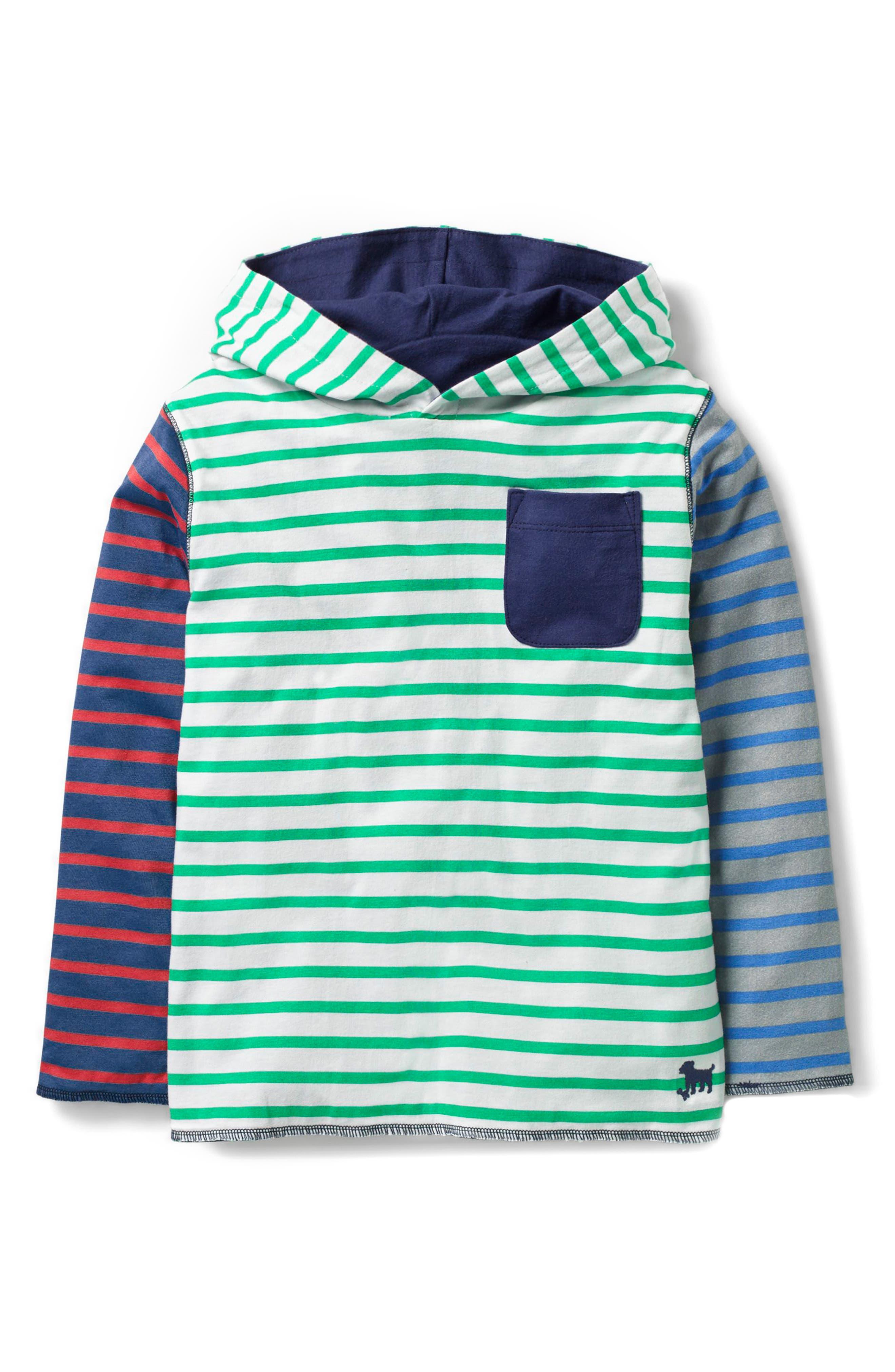 Reversible Hoodie,                         Main,                         color, Ecru/ Astro Green Hotchpotch