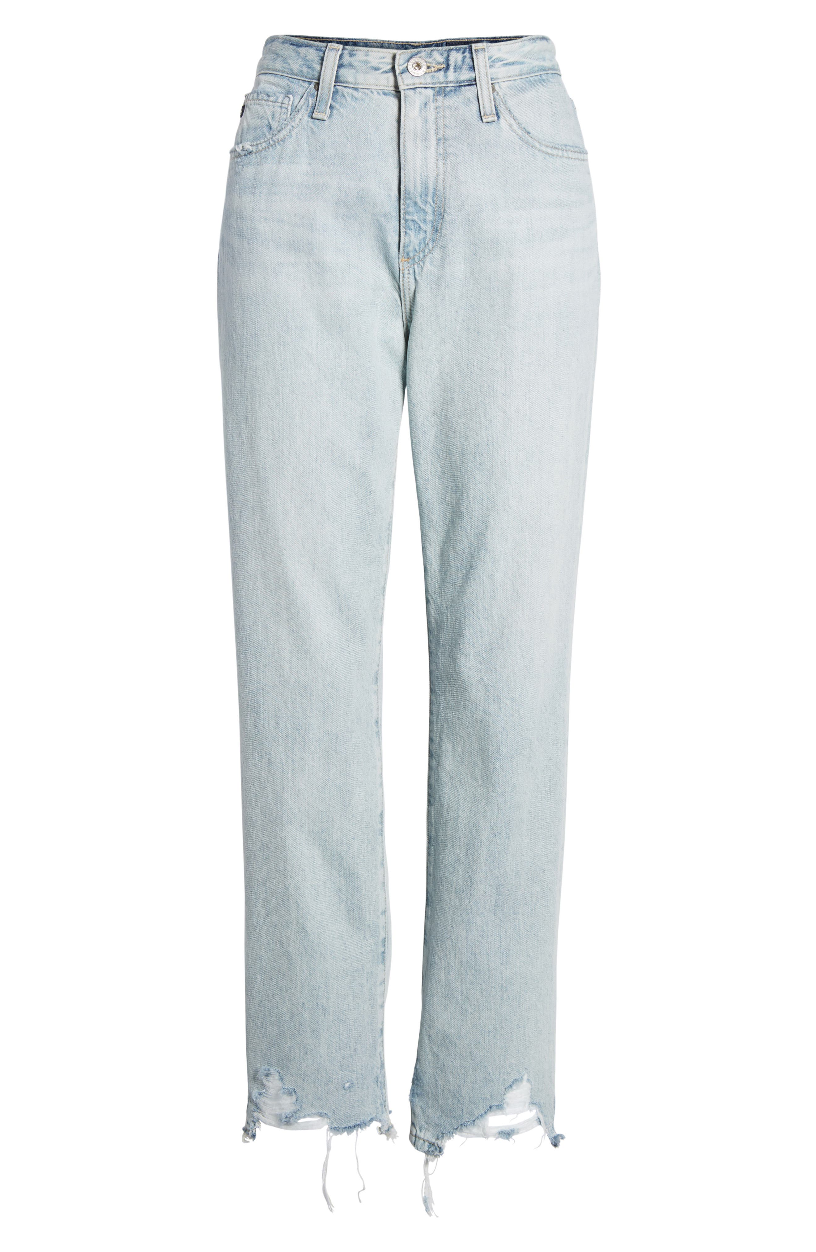 The Phoebe High Rise Straight Leg Jeans,                             Alternate thumbnail 11, color,                             Bering Wave