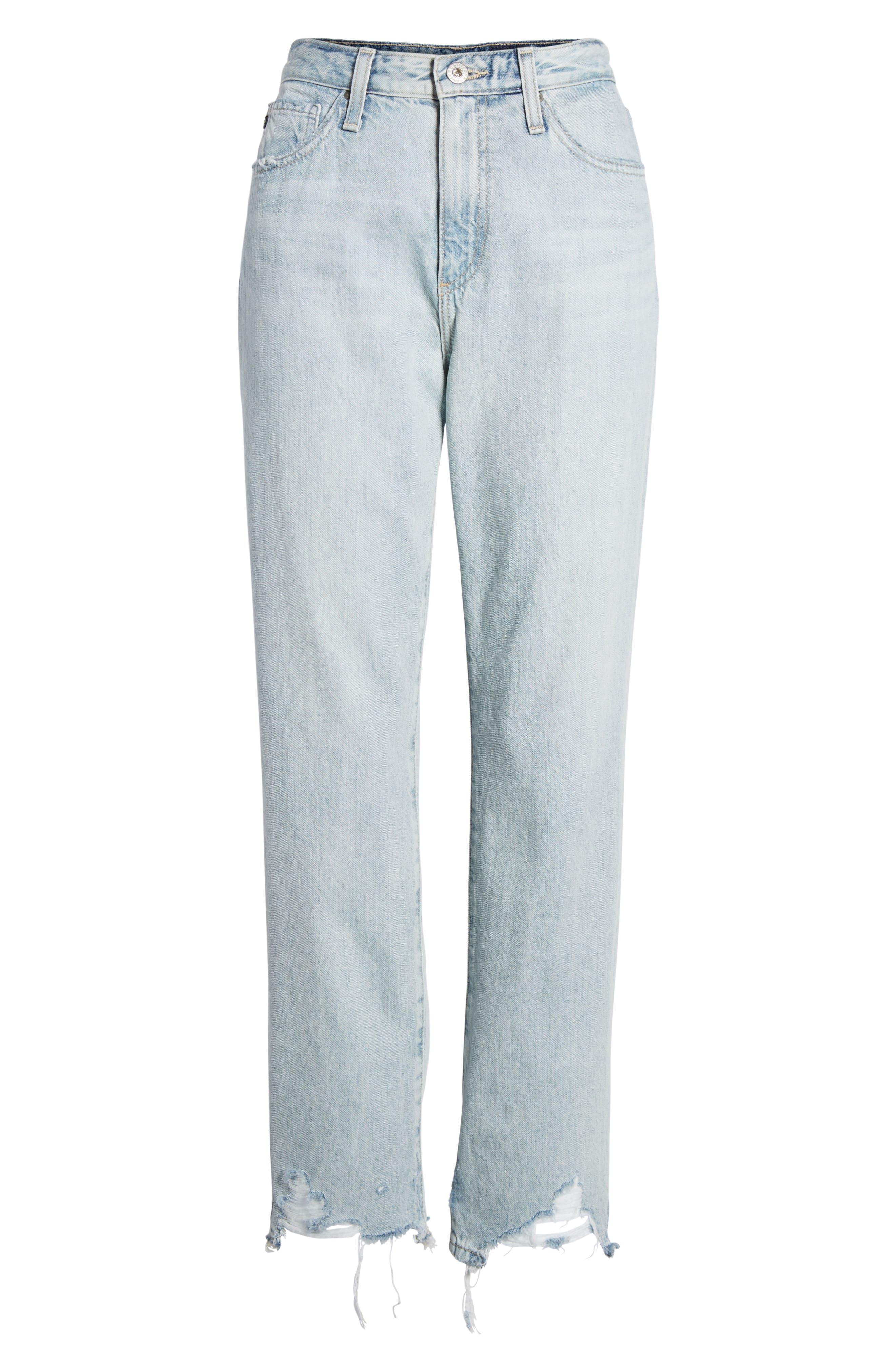 Alternate Image 7  - AG The Phoebe High Rise Straight Leg Jeans (Bering Wave)
