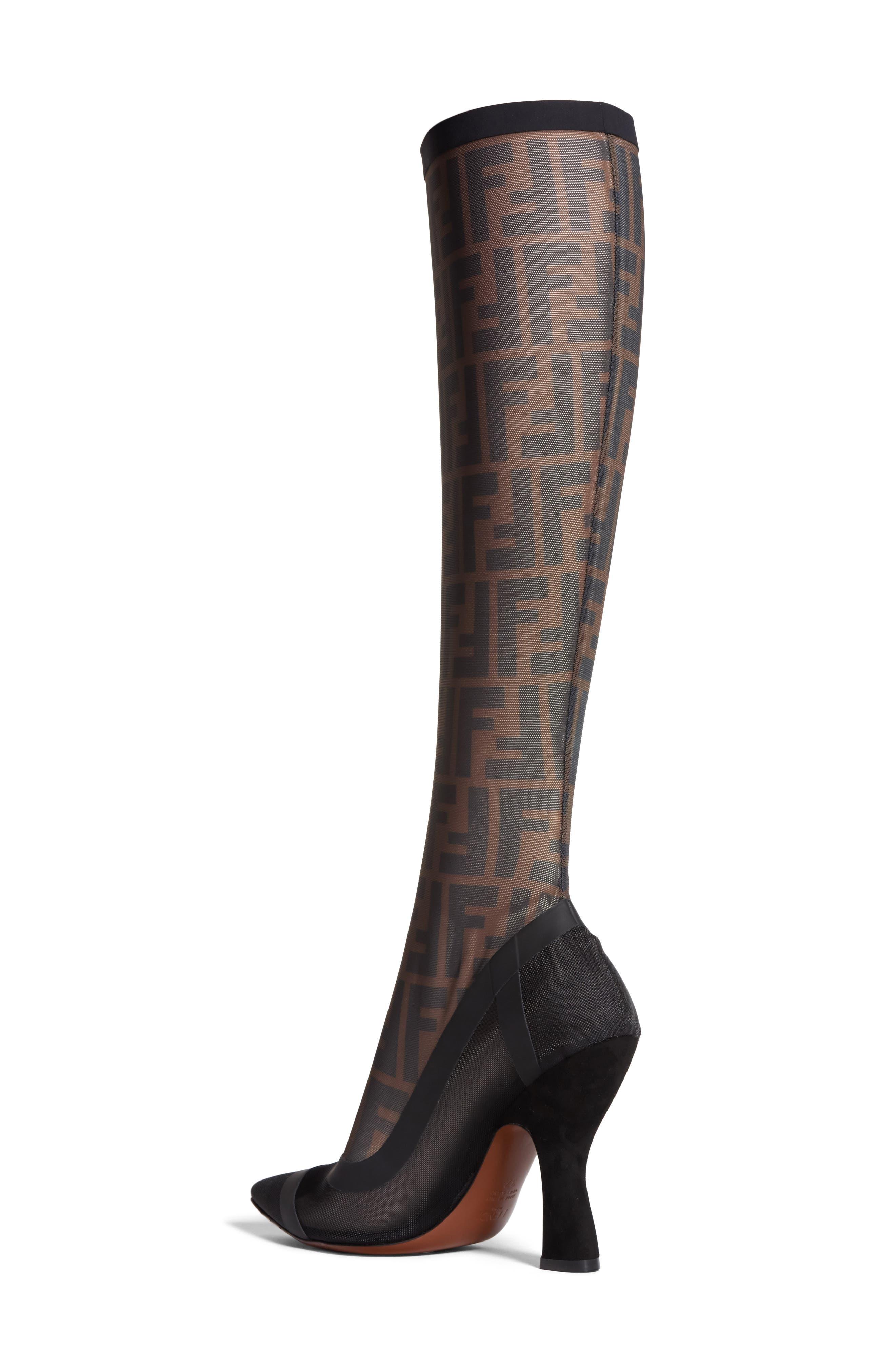 Alternate Image 2  - Fendi Logo Sock Pointy Toe Pump (Women)