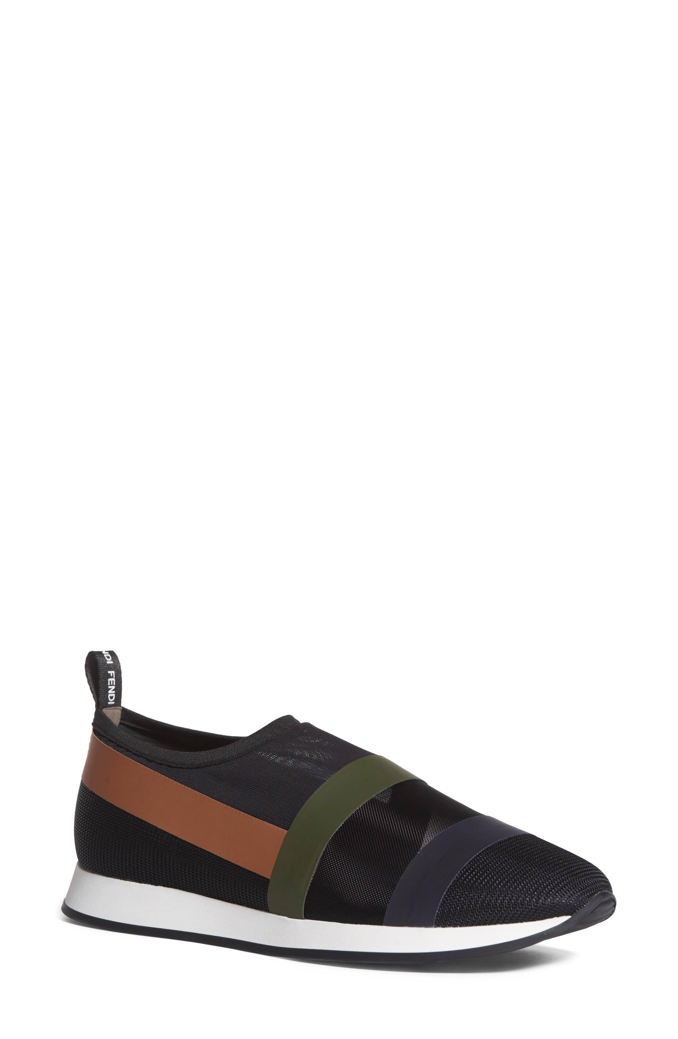 Slip-On Sneaker,                         Main,                         color, Black/ Beige