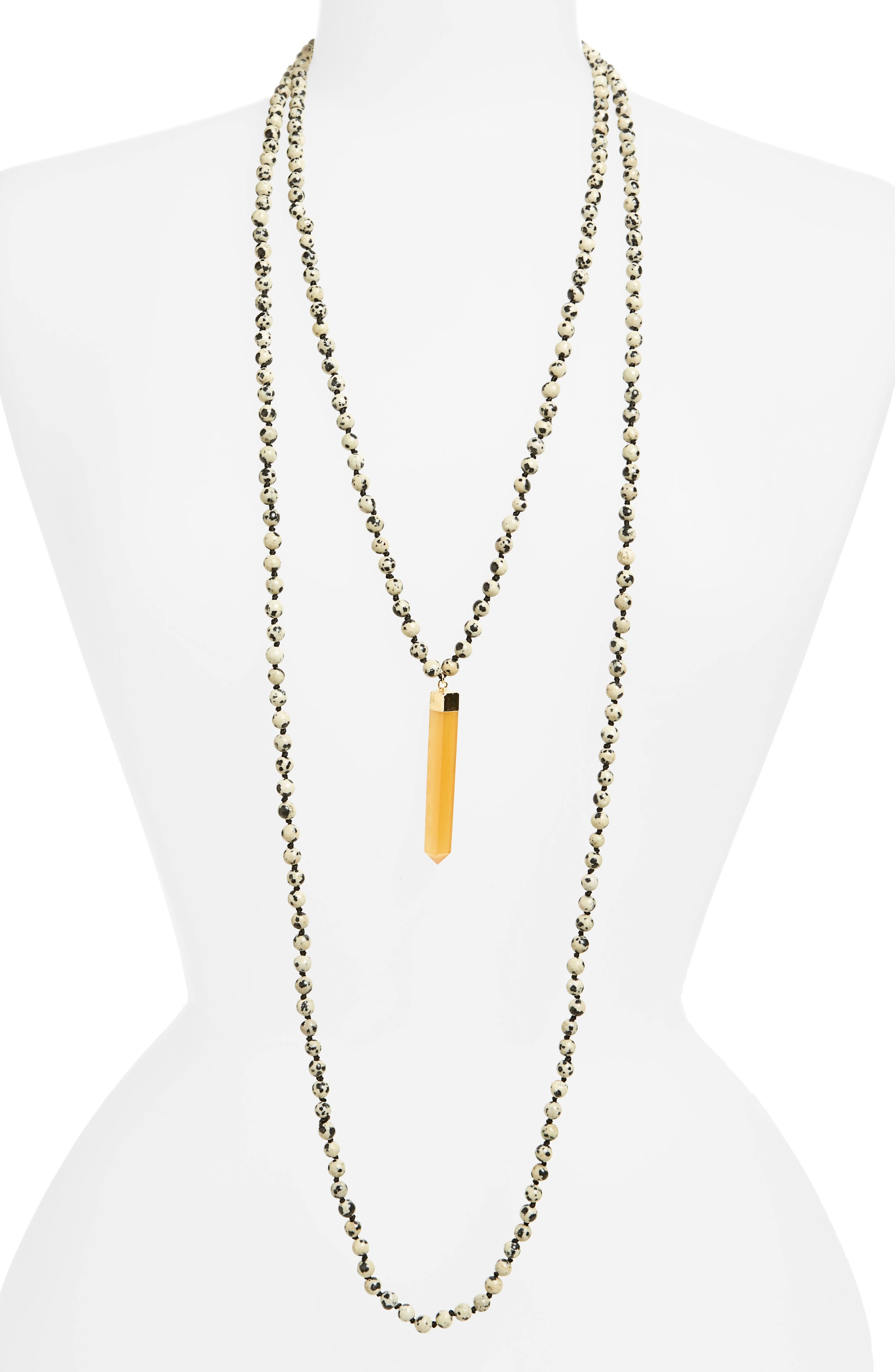 Alternate Image 1 Selected - Love's Affect Knotted Two-Strand Pendant Necklace