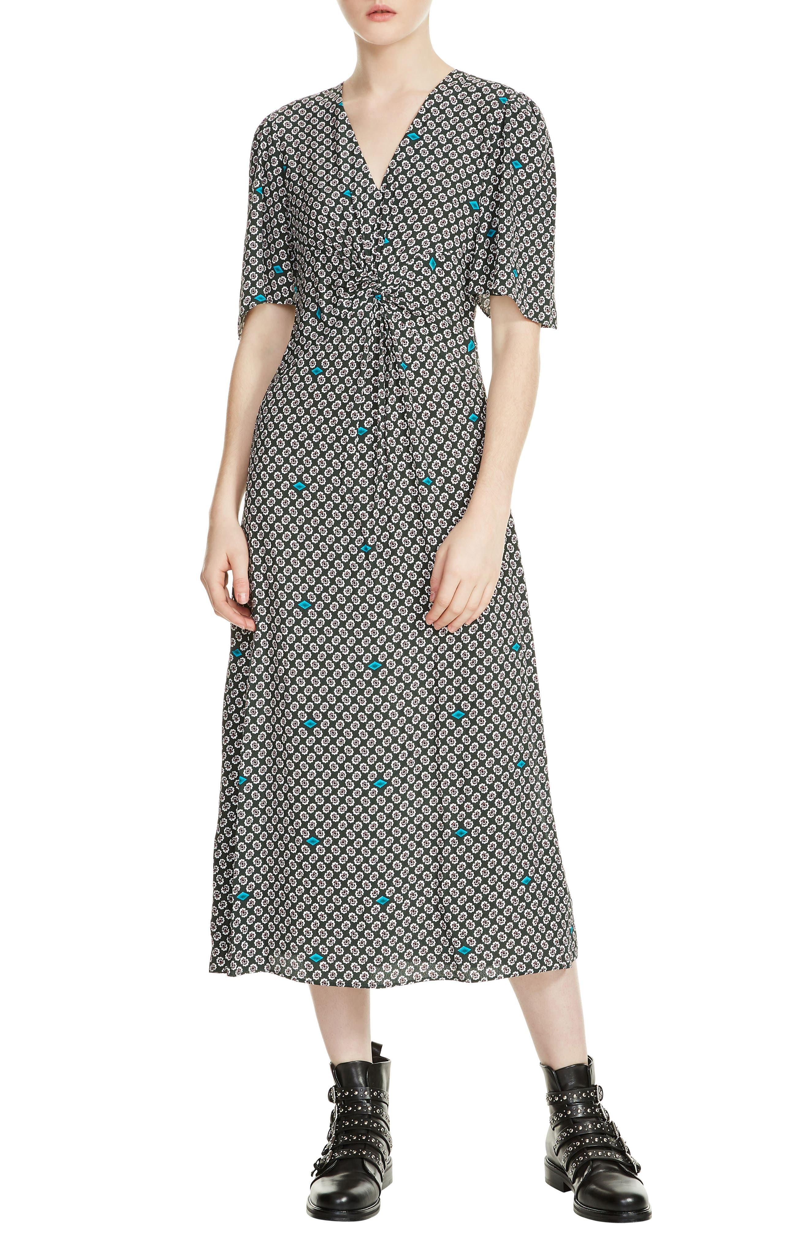 Renoua Print Midi Dress,                         Main,                         color, Printed