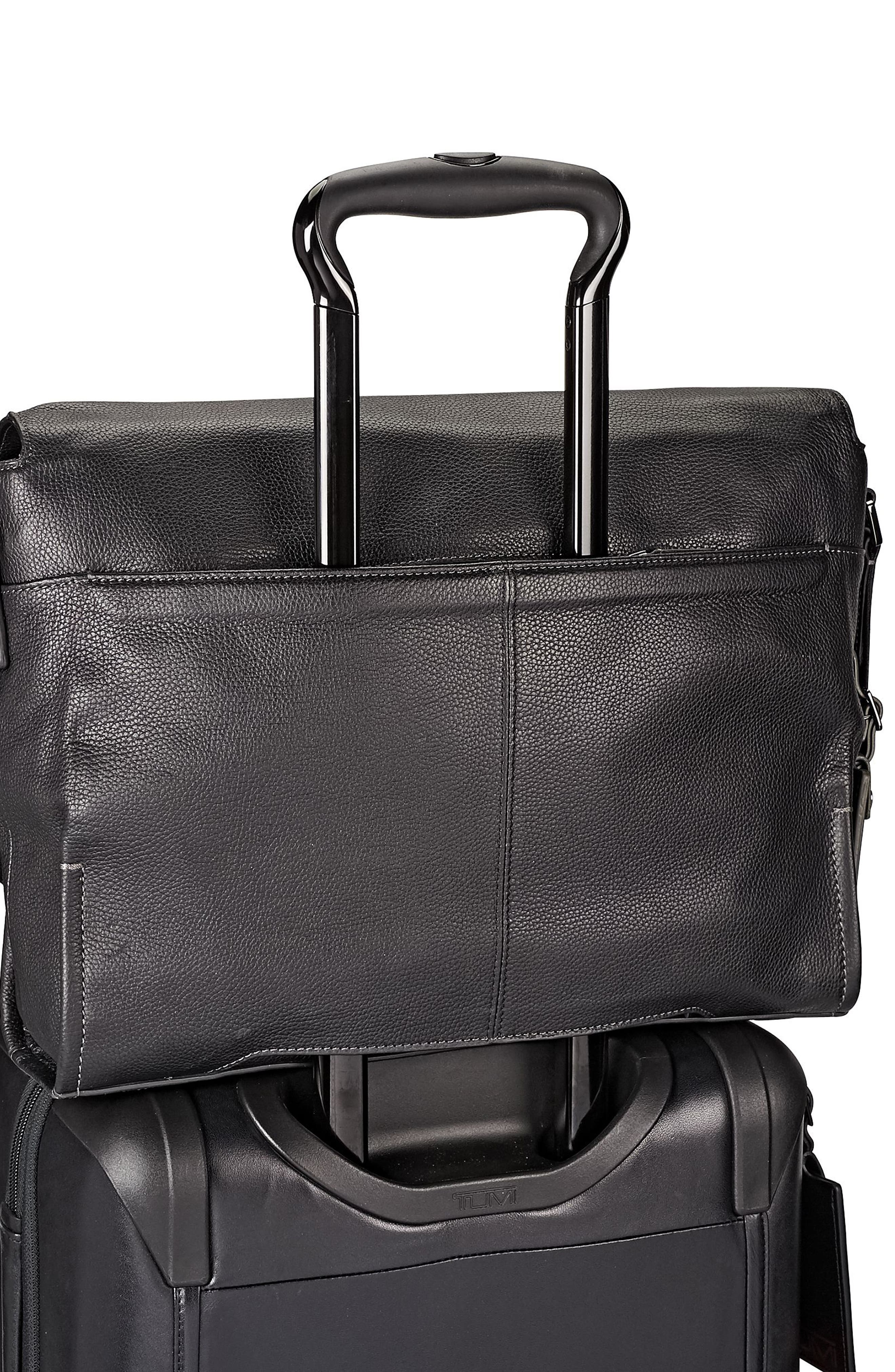 Harrison - Mathews Messenger Bag,                             Alternate thumbnail 6, color,                             Black