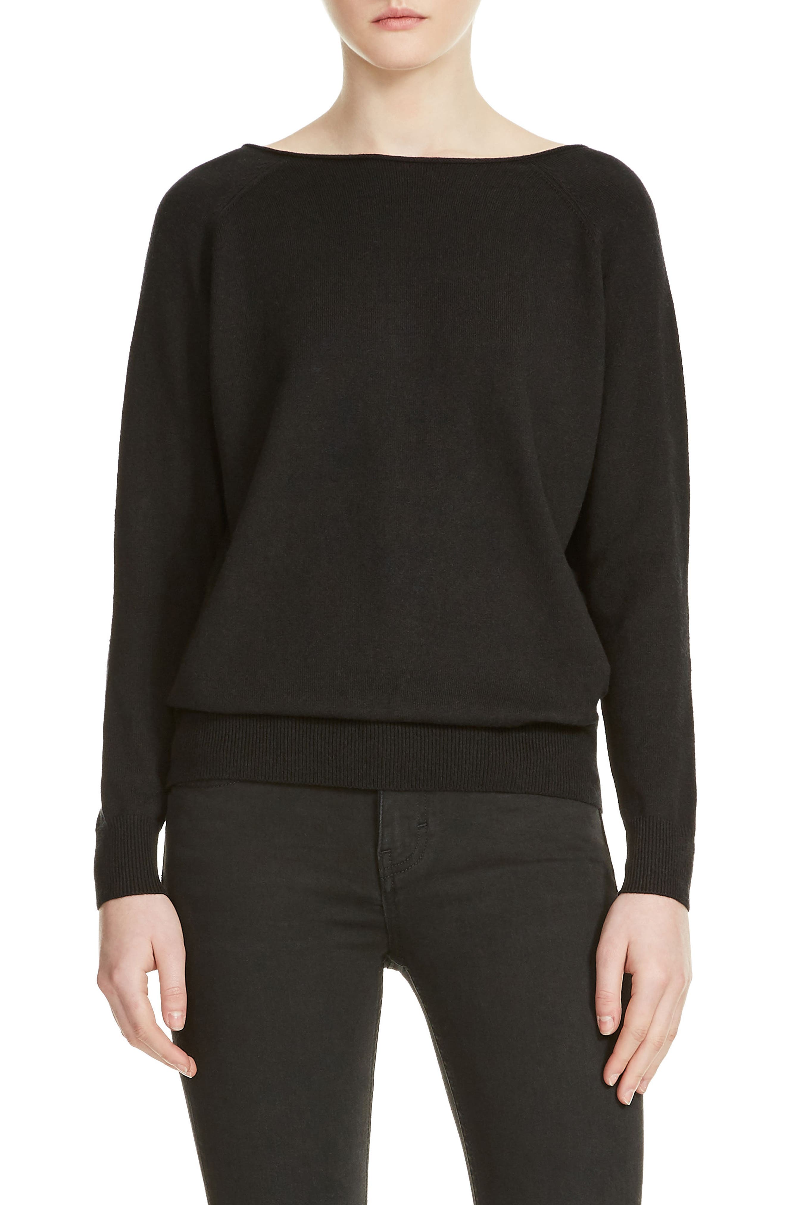 Macademia Chain Back Sweater,                             Main thumbnail 1, color,                             Black