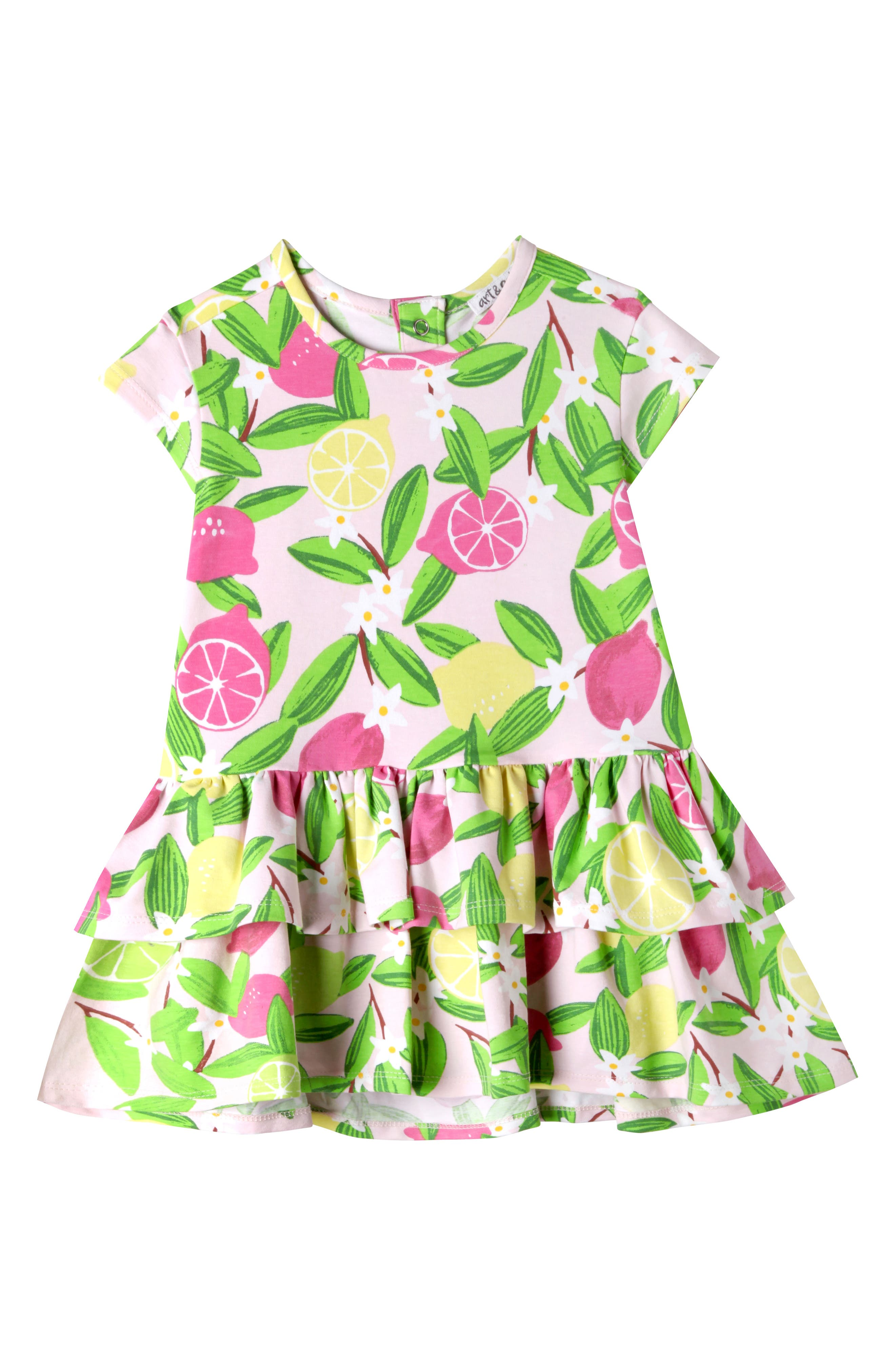 Kinsley Dress,                         Main,                         color, Pink Lemonade