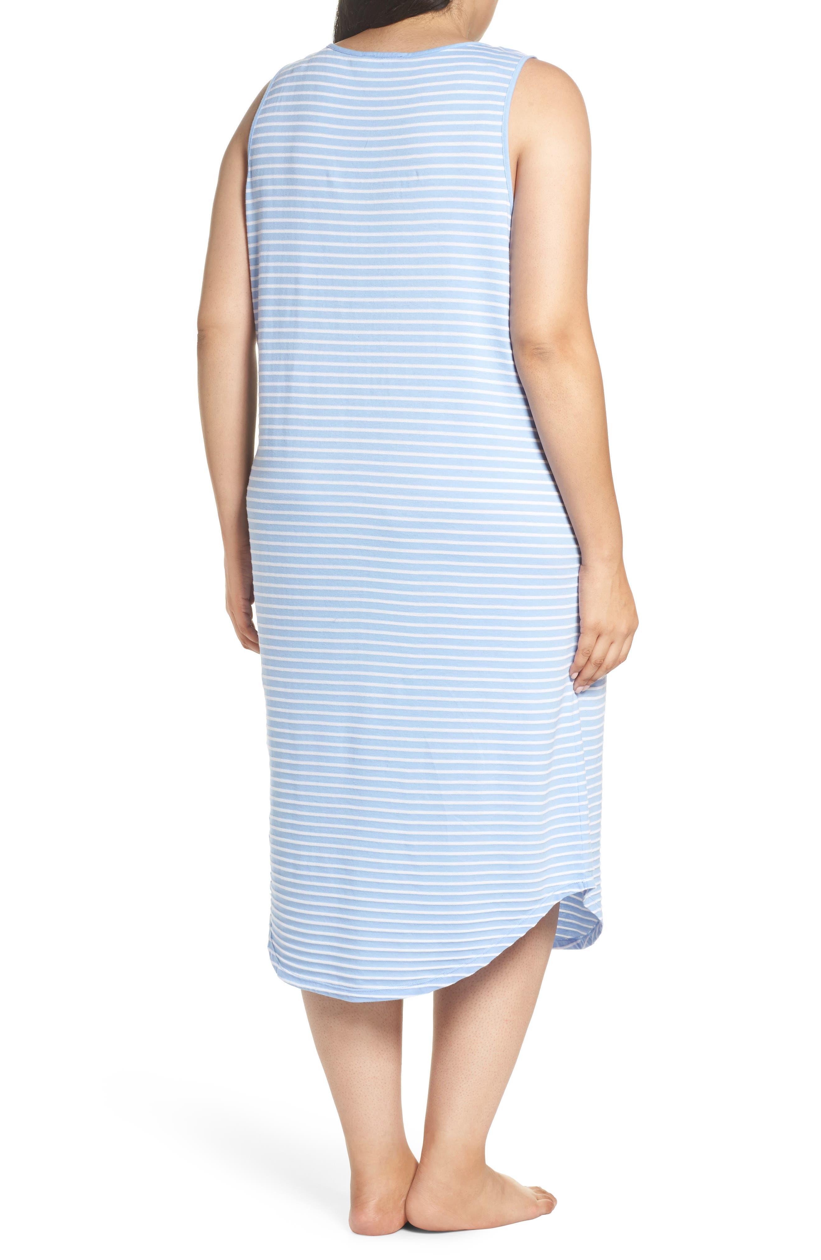 Piqué Cotton Ballet Gown,                             Alternate thumbnail 2, color,                             Blue Stripe