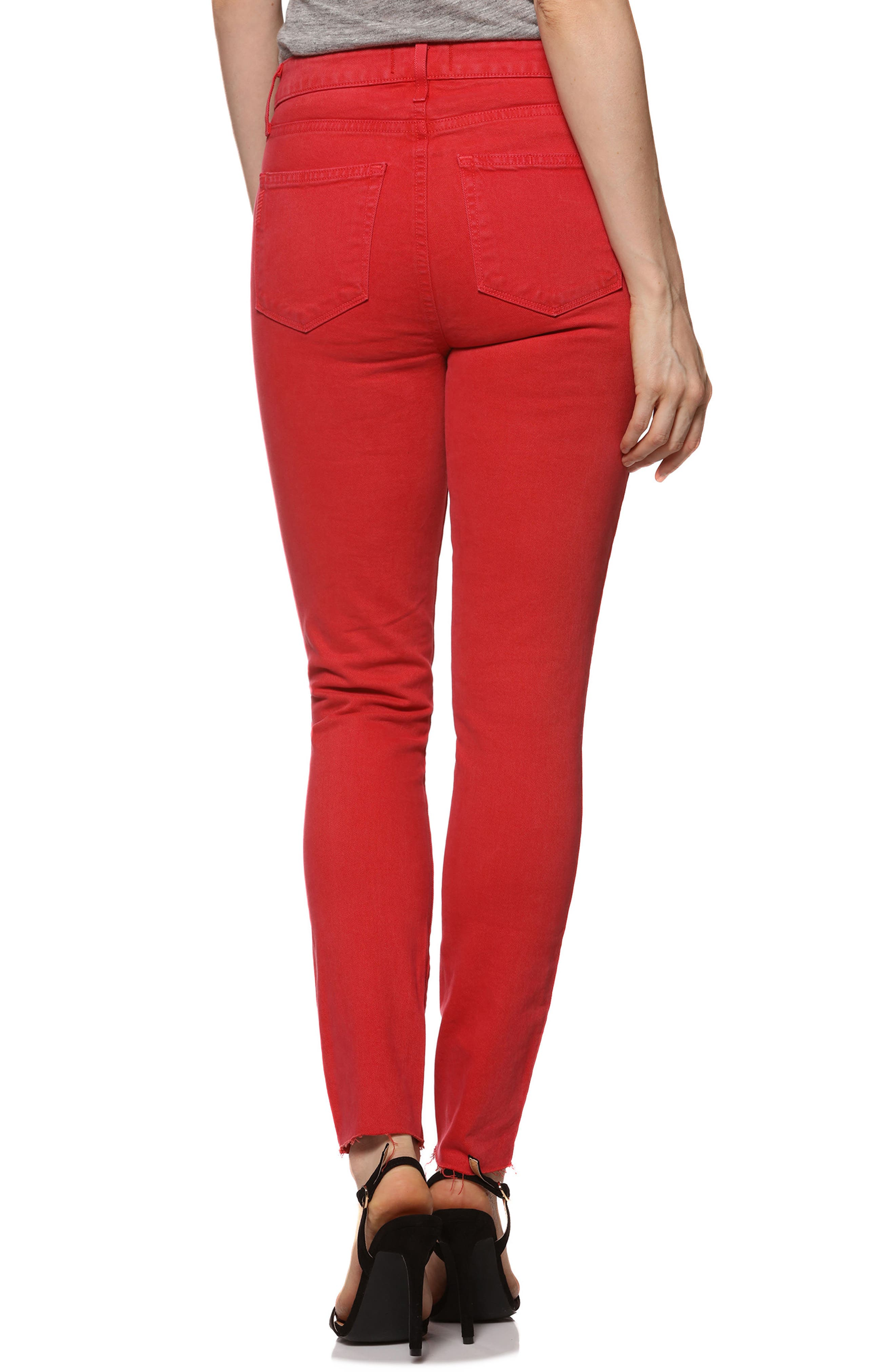 Hoxton High Waist Ankle Skinny Jeans,                             Alternate thumbnail 3, color,                             Vintage Cherry Bomb