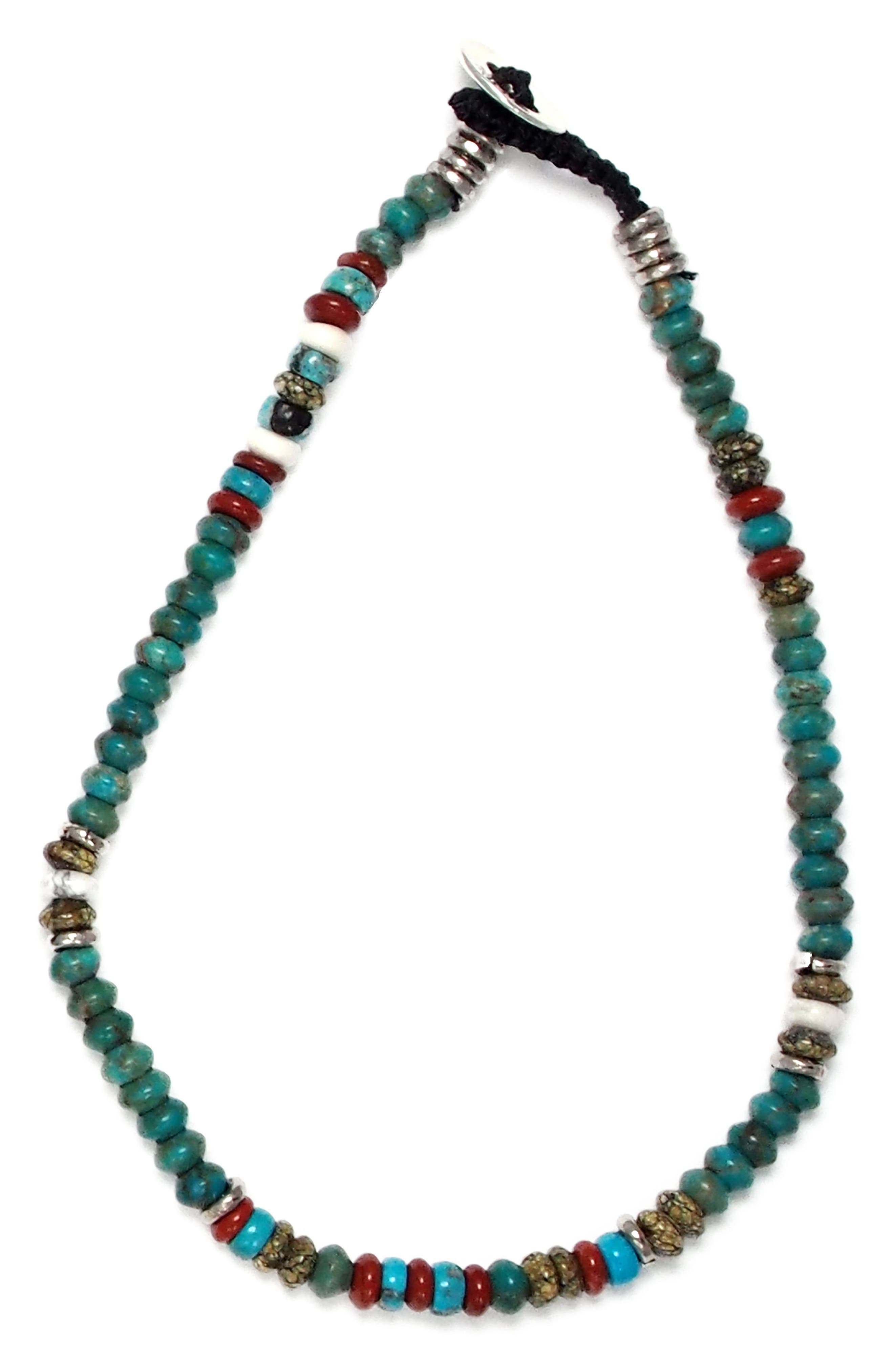 Roundel Bead Bracelet,                         Main,                         color, Turquoise