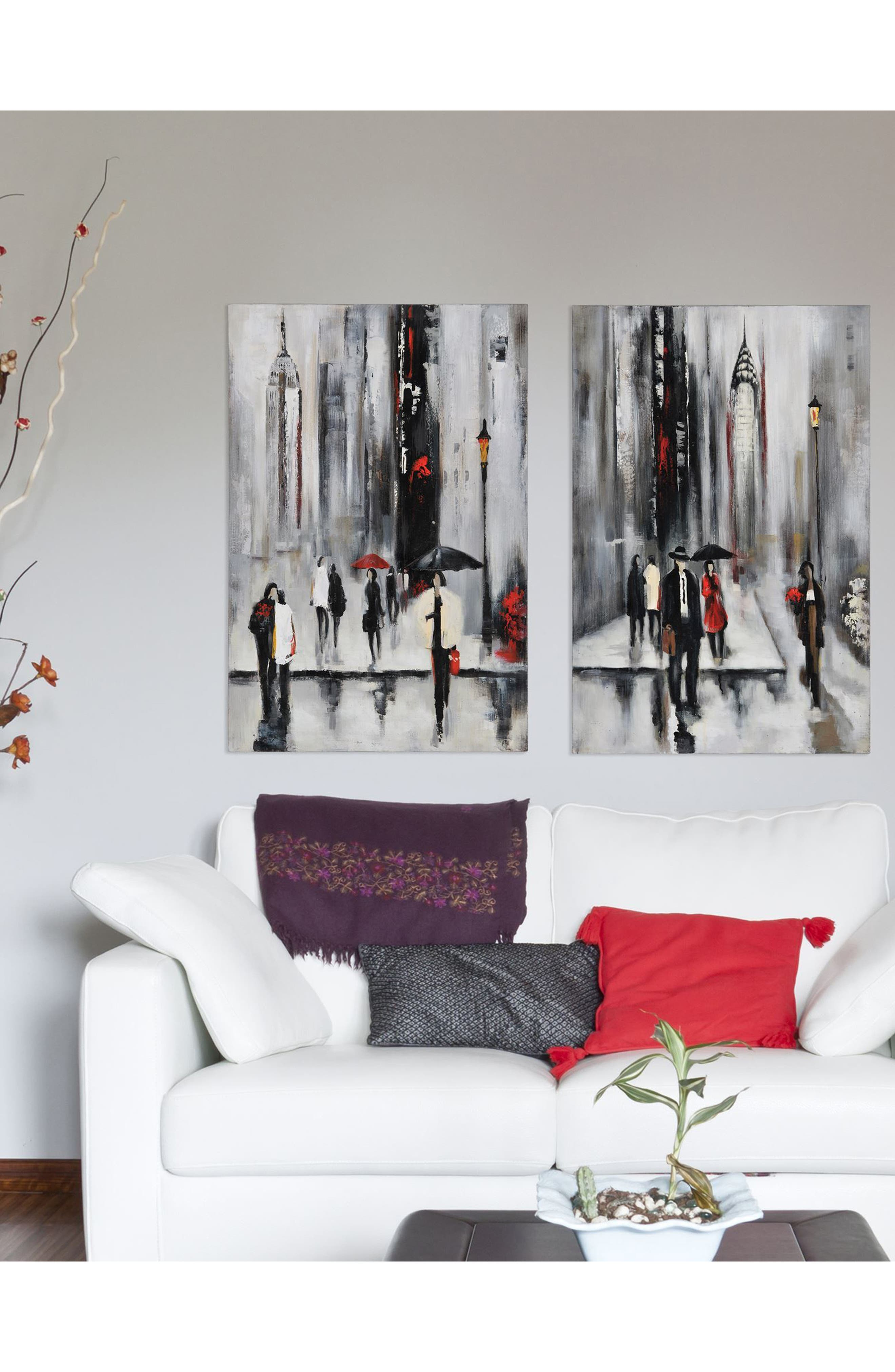 Bustling City I Canvas Wall Art,                             Alternate thumbnail 2, color,                             Multicolor