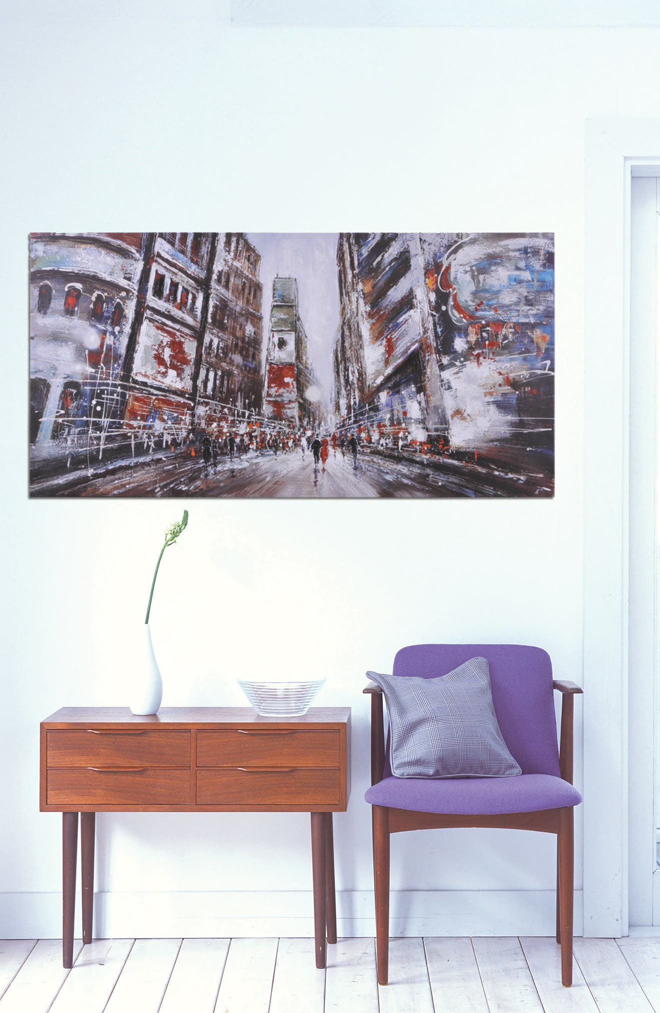 Evening In Times Square Canvas Art,                             Alternate thumbnail 2, color,                             Multicolor