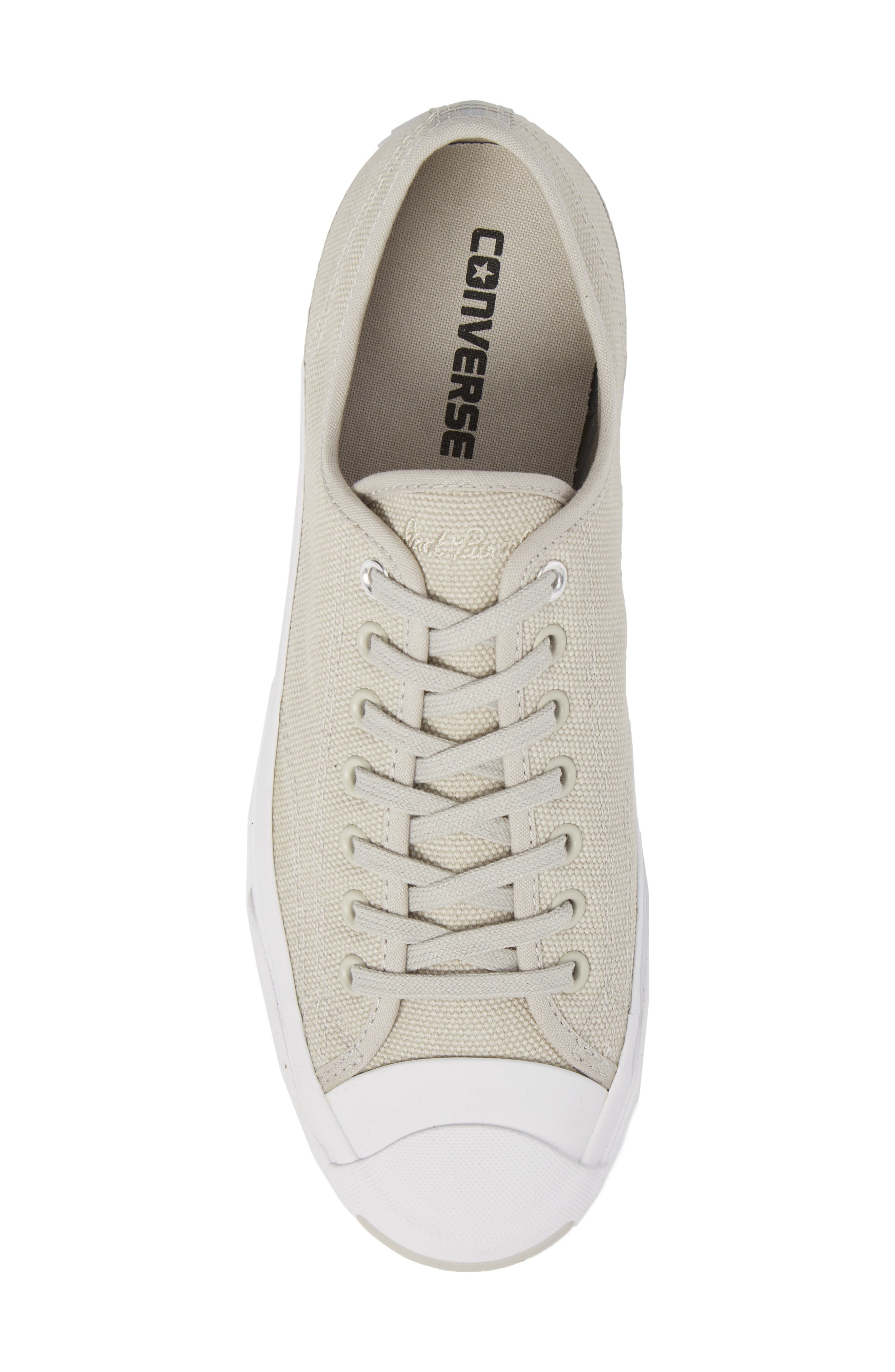 Jack Purcell Sneaker,                             Alternate thumbnail 5, color,                             Pale Grey Canvas