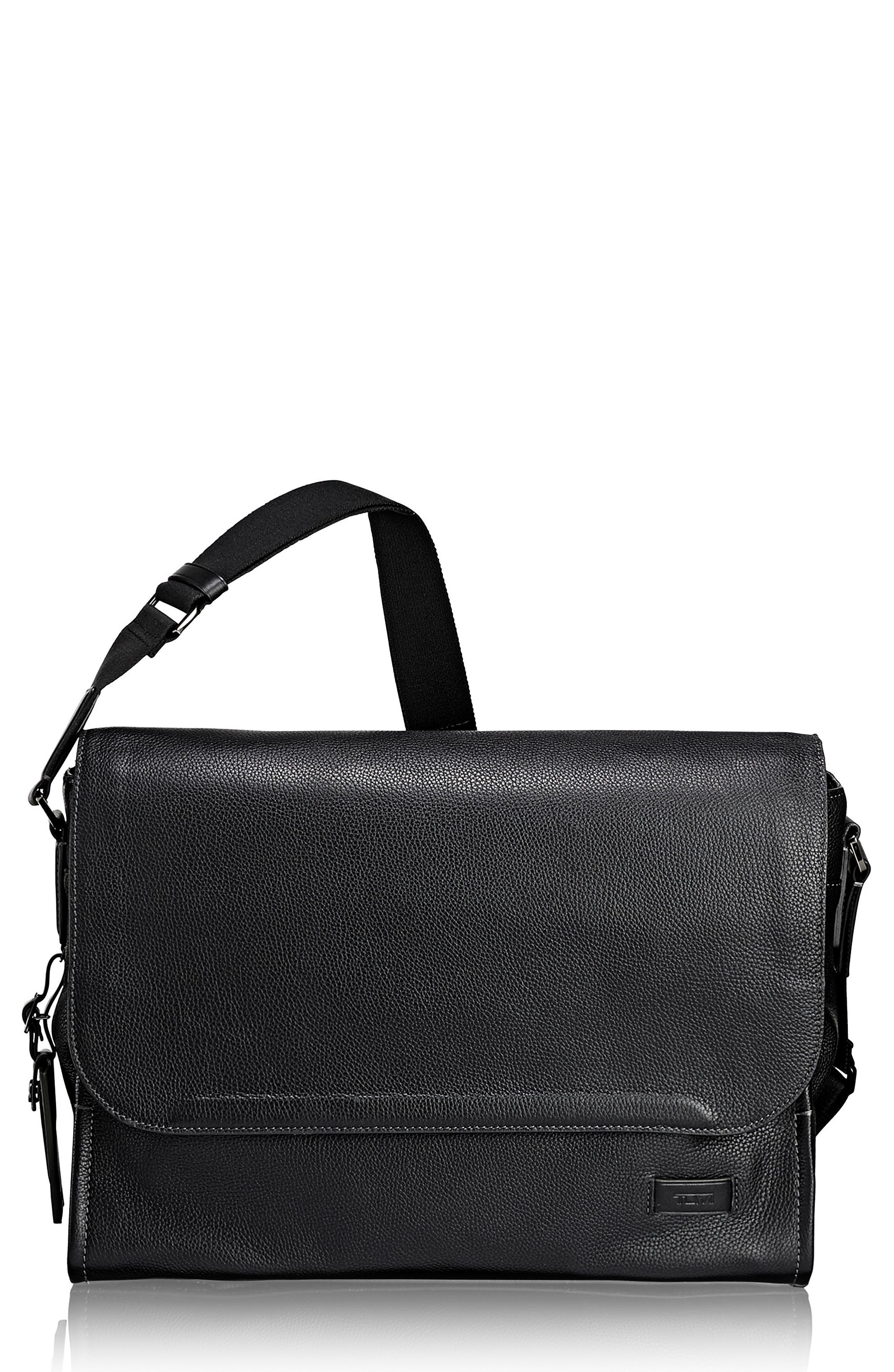 Harrison - Mathews Messenger Bag,                             Main thumbnail 1, color,                             Black