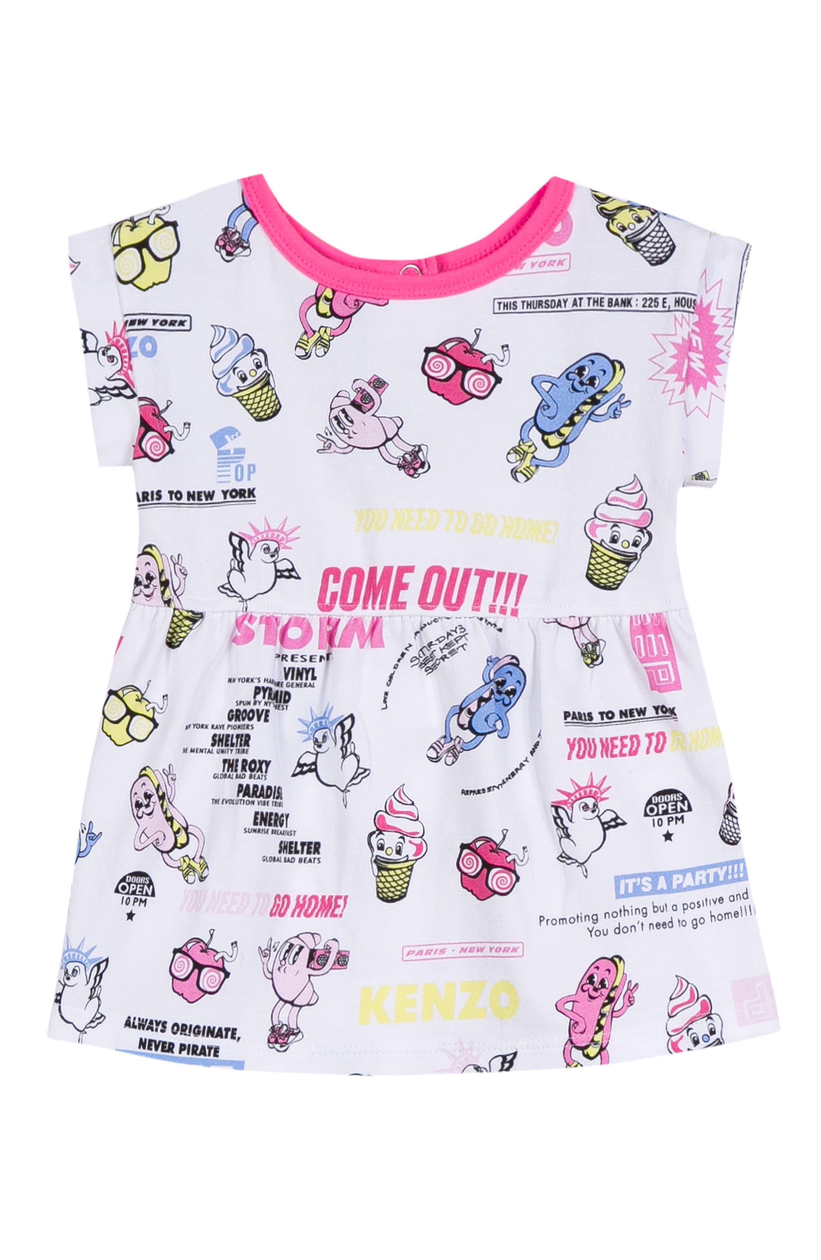 KENZO Food Fiesta Print Dress (Baby Girls)