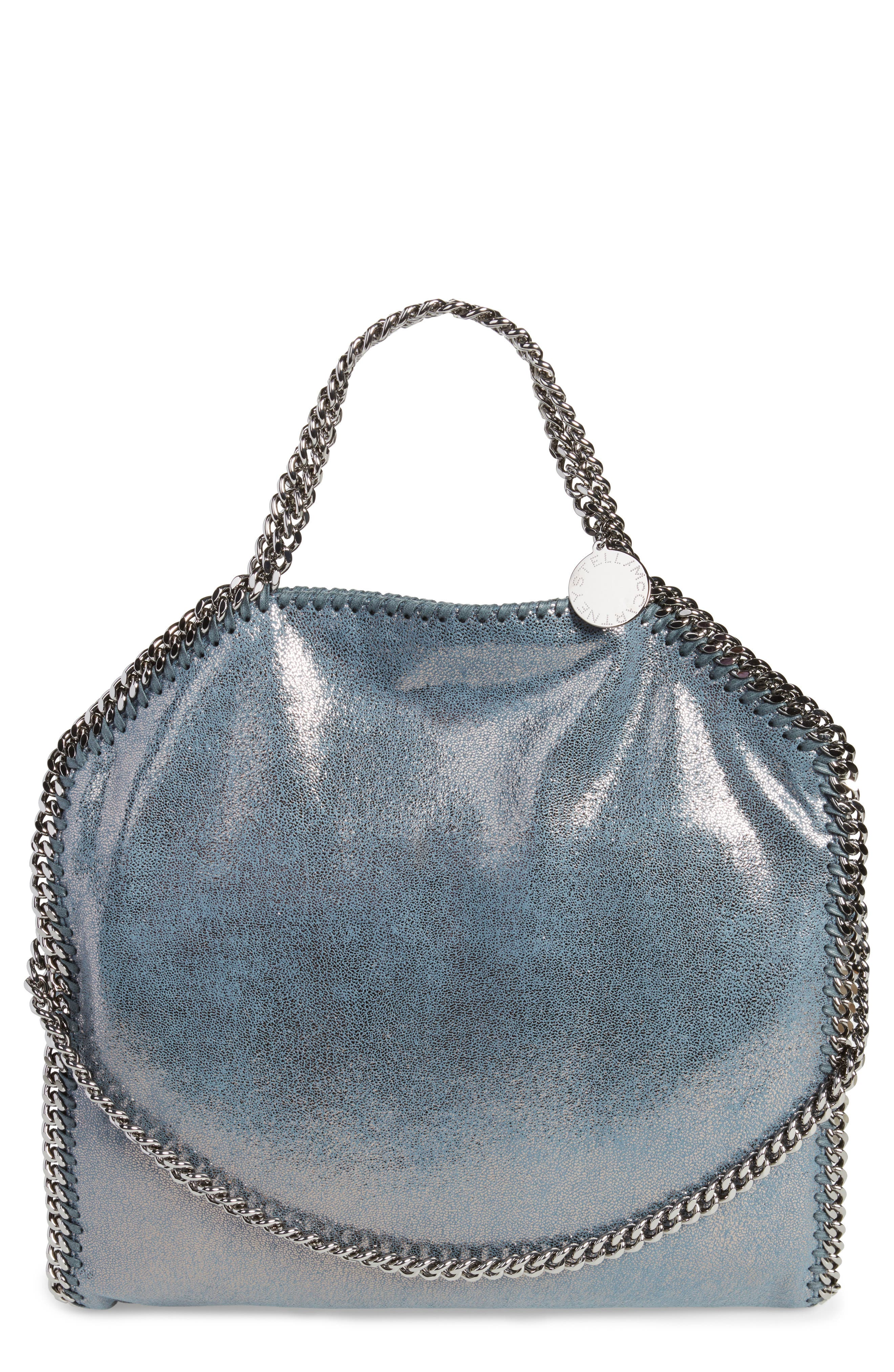 Stella Mccartney Falabella Shaggy Deer Metallic Faux Leather Tote - Blue In  Blue Lagoon 809f676770