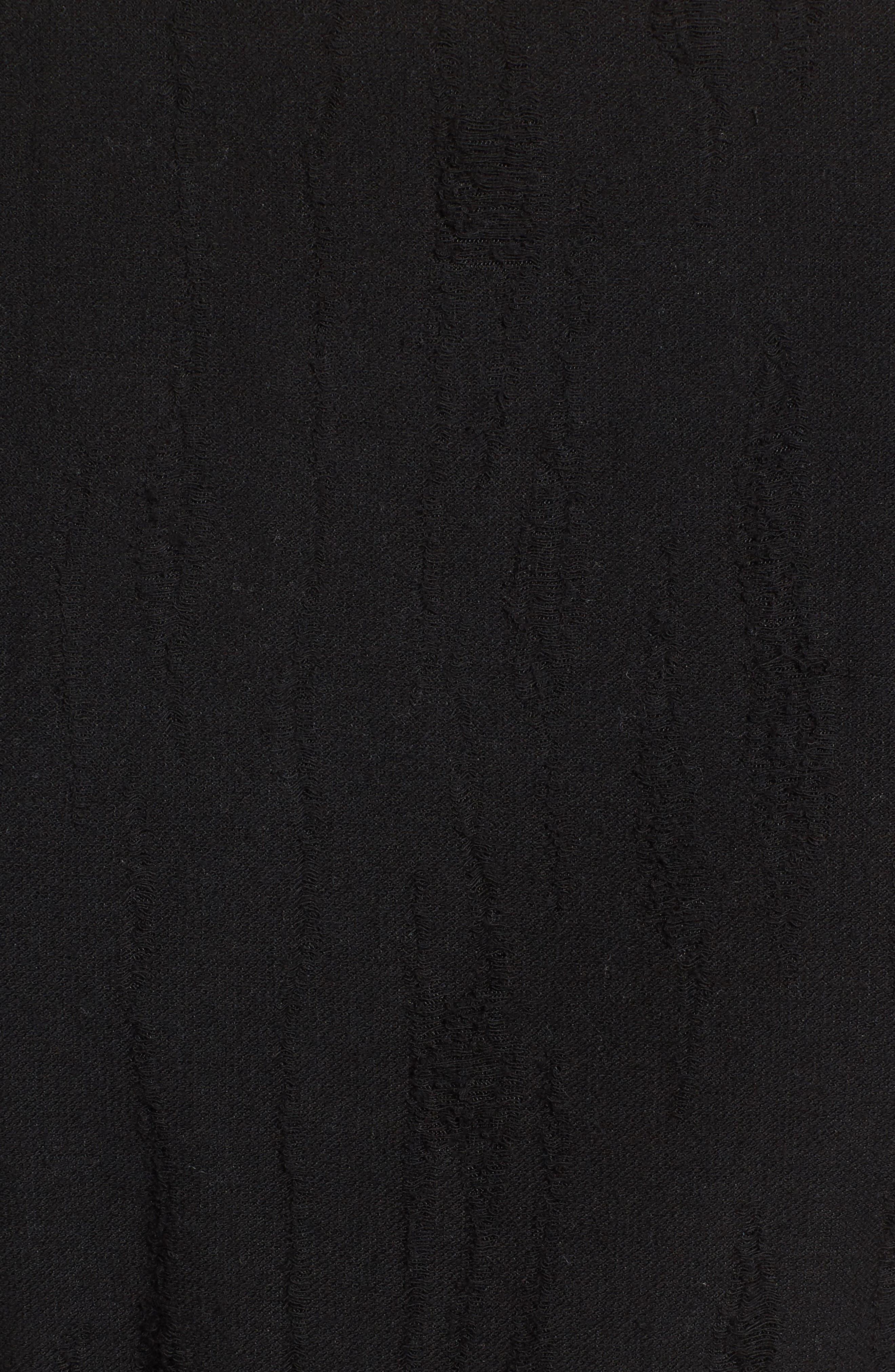 Ruffle Edge Dress,                             Alternate thumbnail 5, color,                             Black