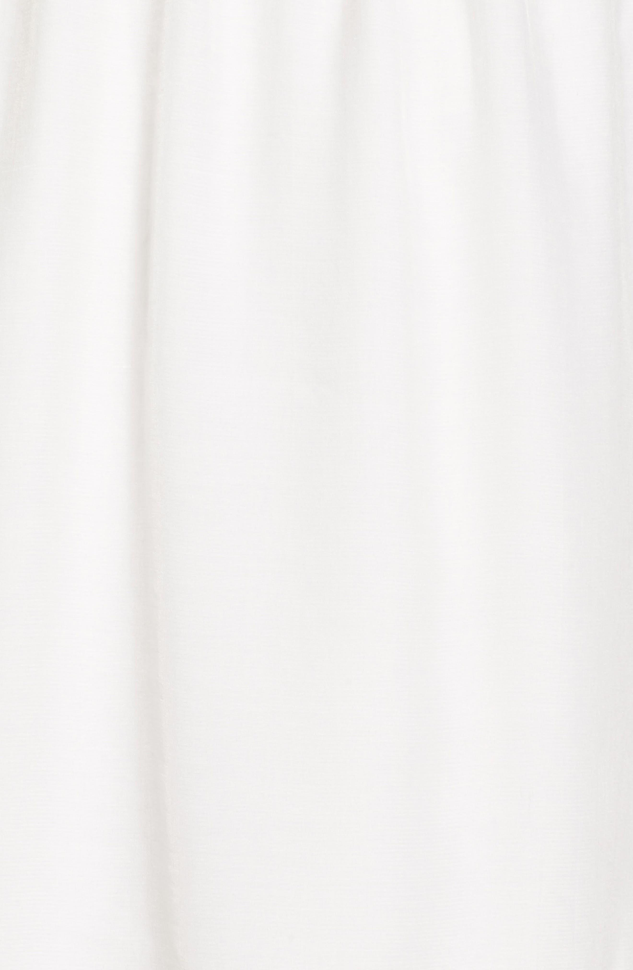 Lace Trim Babydoll Dress,                             Alternate thumbnail 5, color,                             White