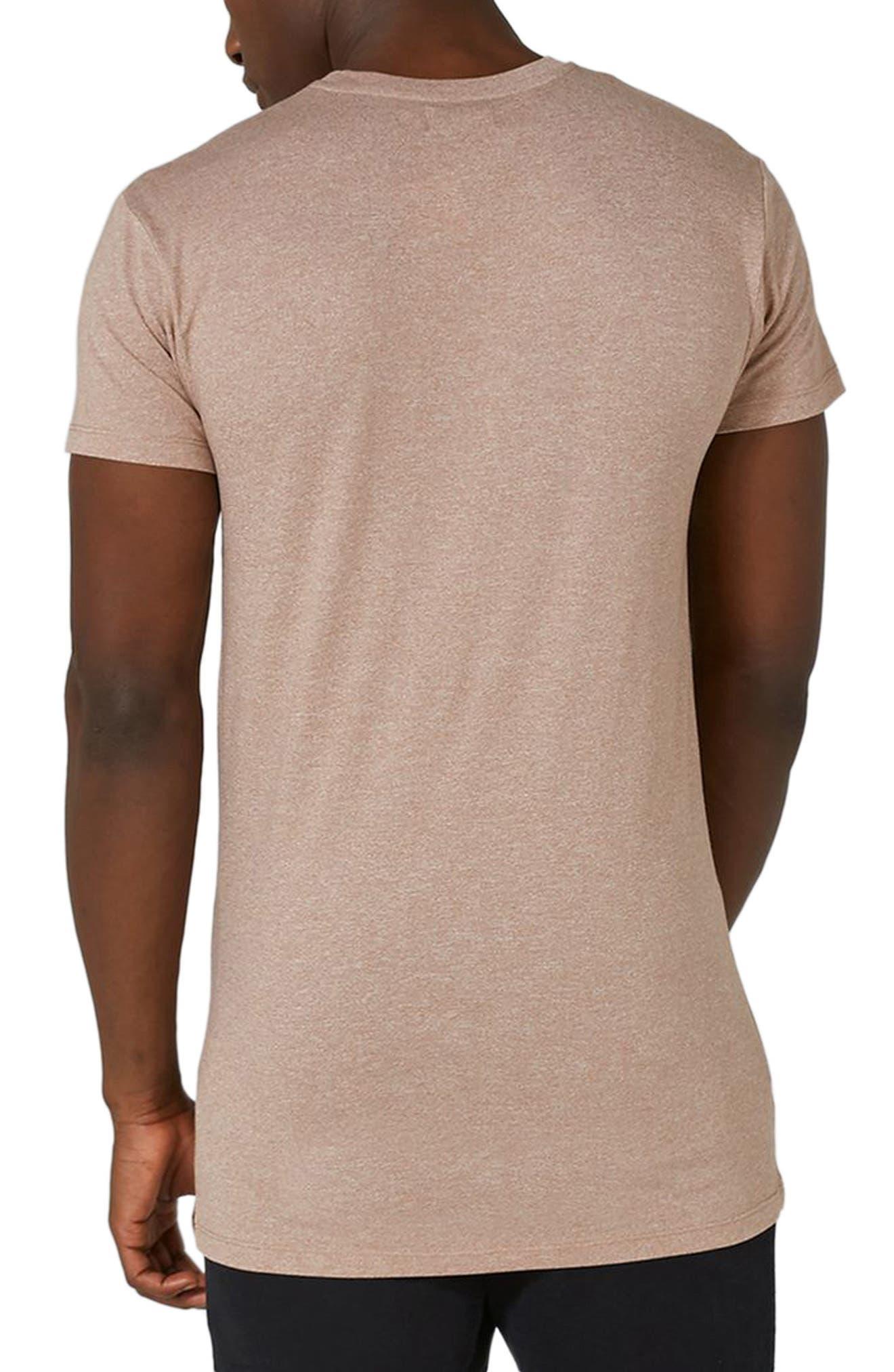 Muscle Fit Longline T-Shirt,                             Alternate thumbnail 2, color,                             Light Brown