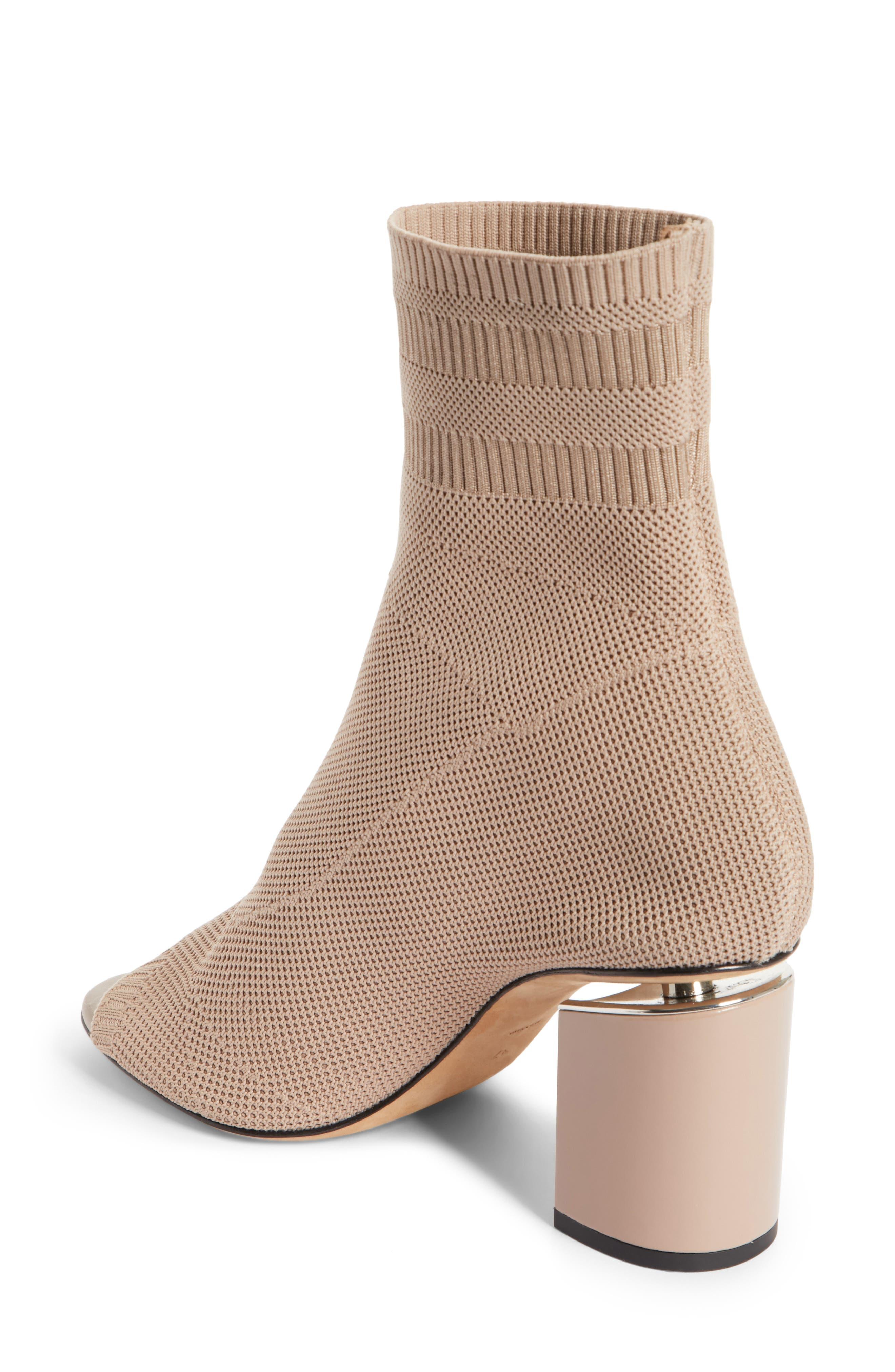 Cat Knit Sock Boot,                             Alternate thumbnail 2, color,                             Nude
