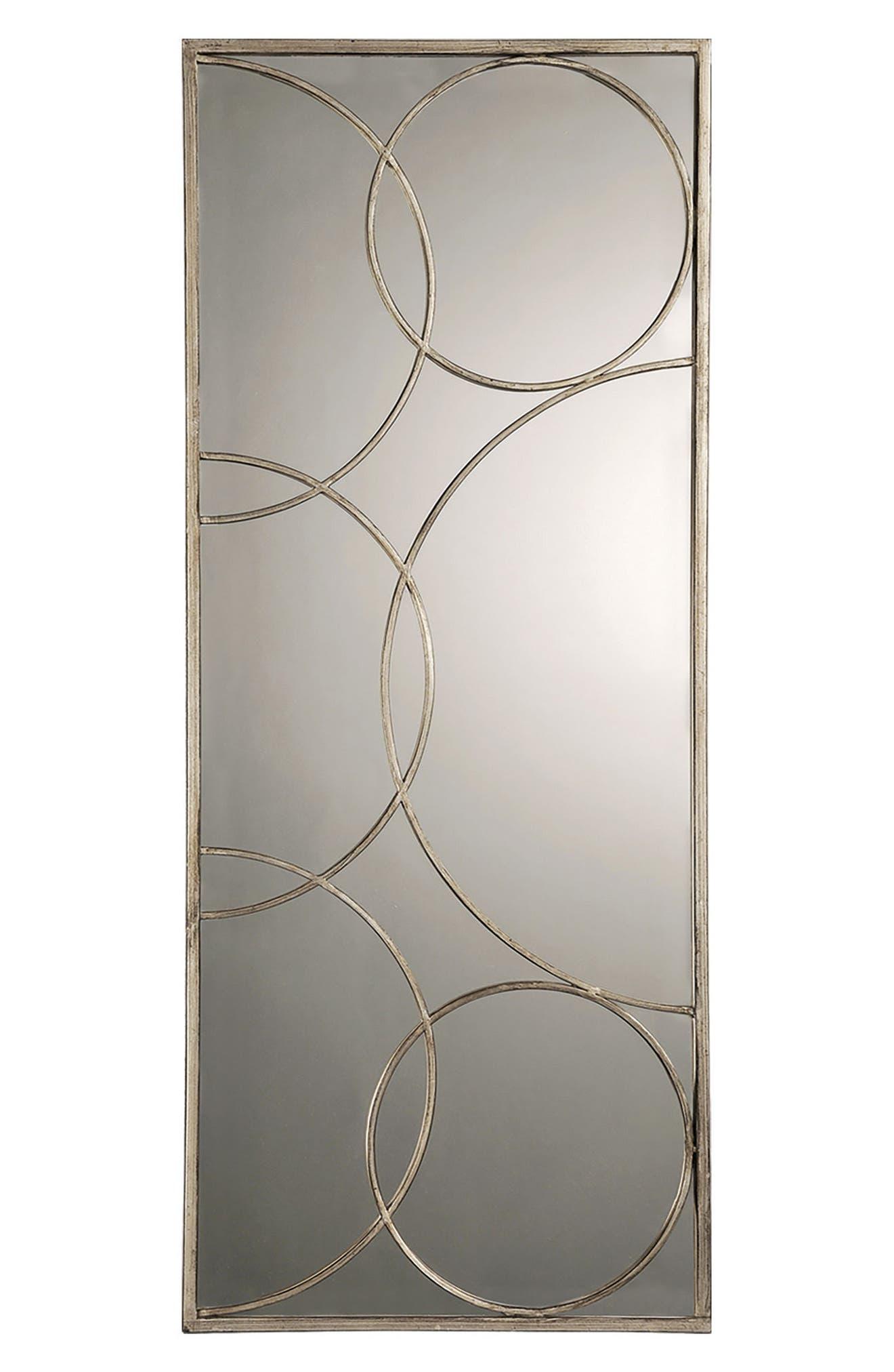 Kyrie Mirror,                         Main,                         color, Antique Silver