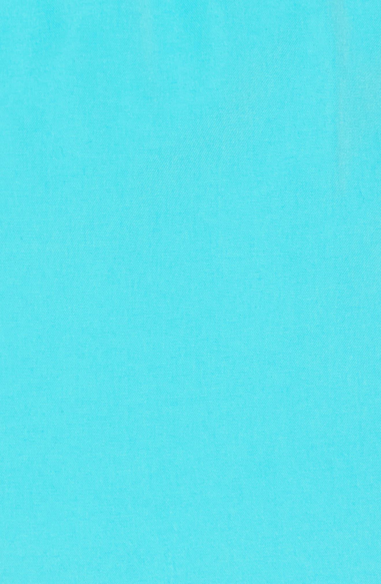 Solid Swim Trunks,                             Alternate thumbnail 5, color,                             Pool Blue