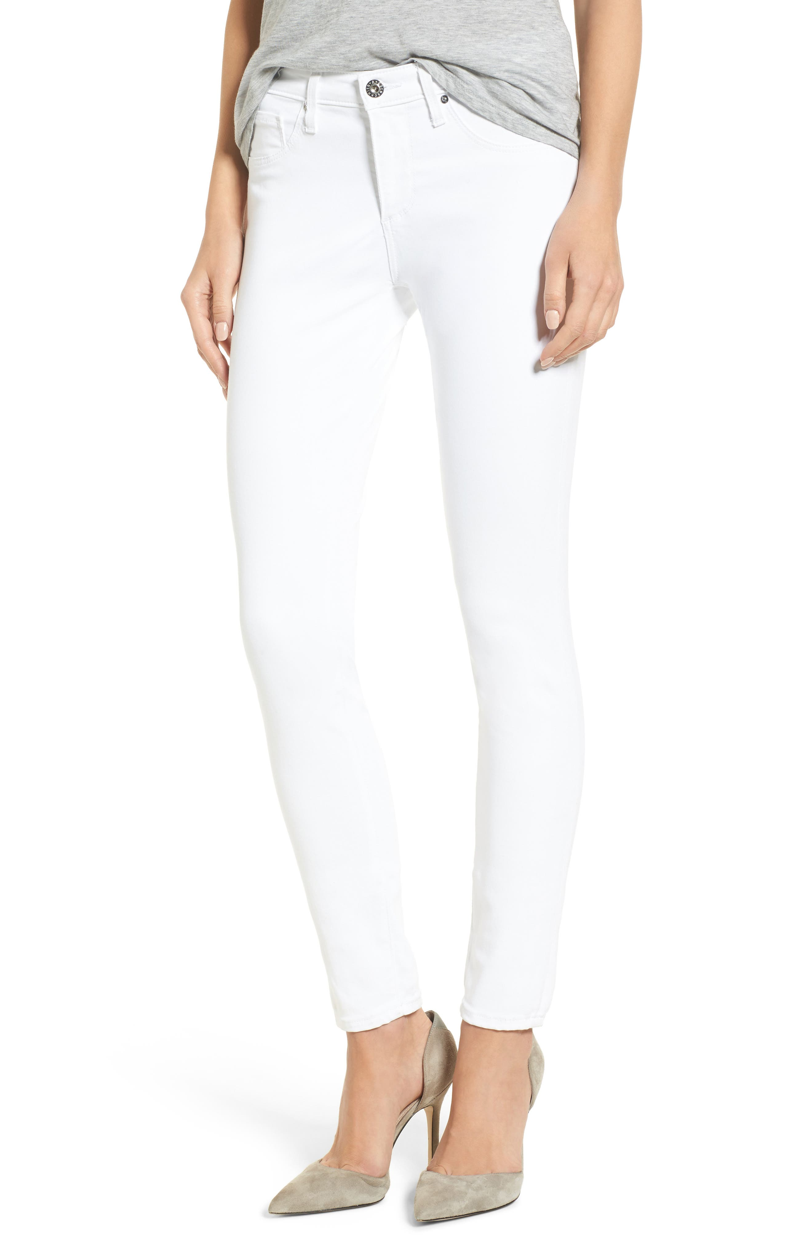 The Legging Ankle Super Skinny Jeans,                             Main thumbnail 1, color,                             White