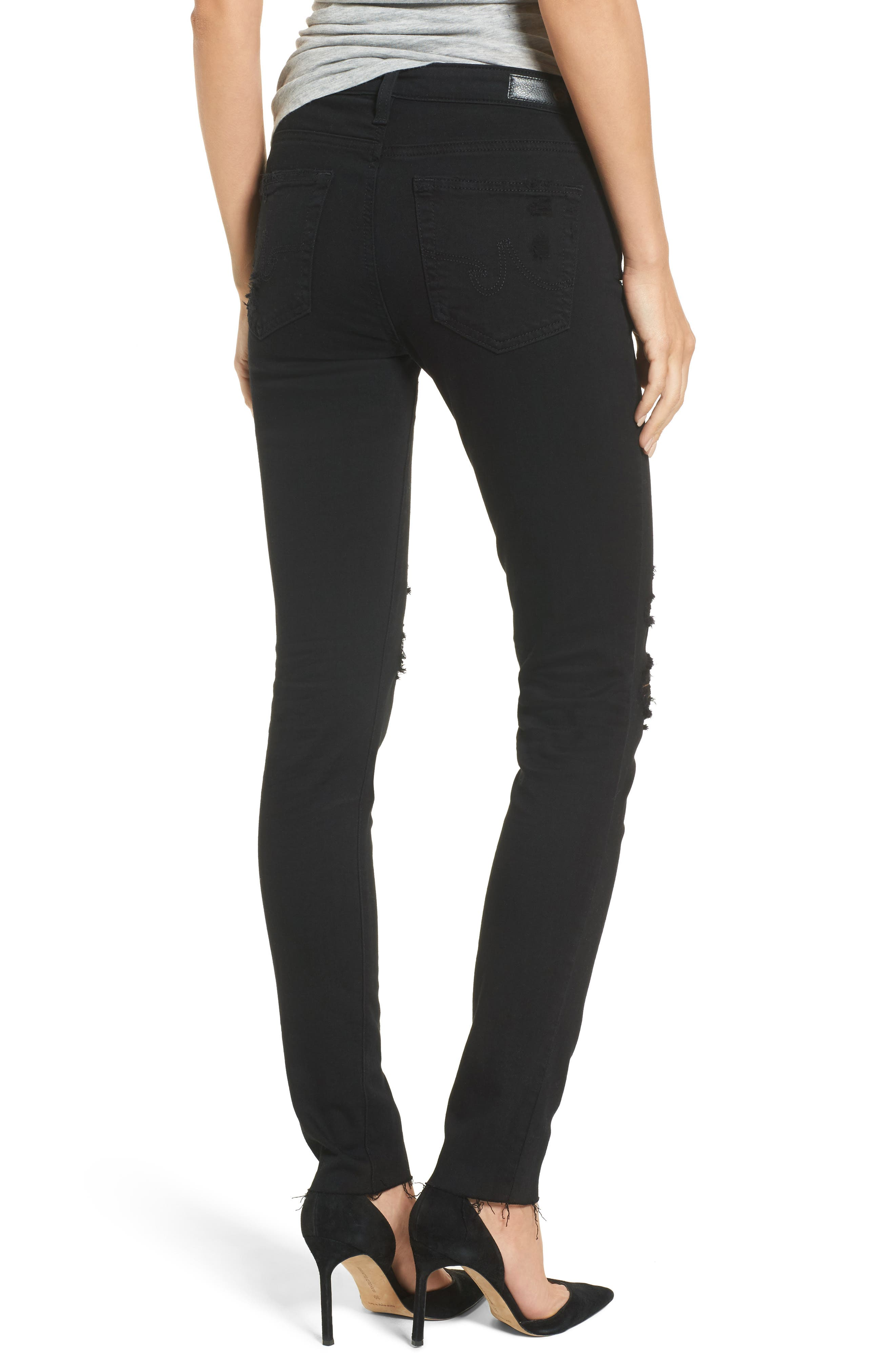 Prima Mid Rise Cigarette Jeans,                             Alternate thumbnail 2, color,                             5 Years Black Destructed