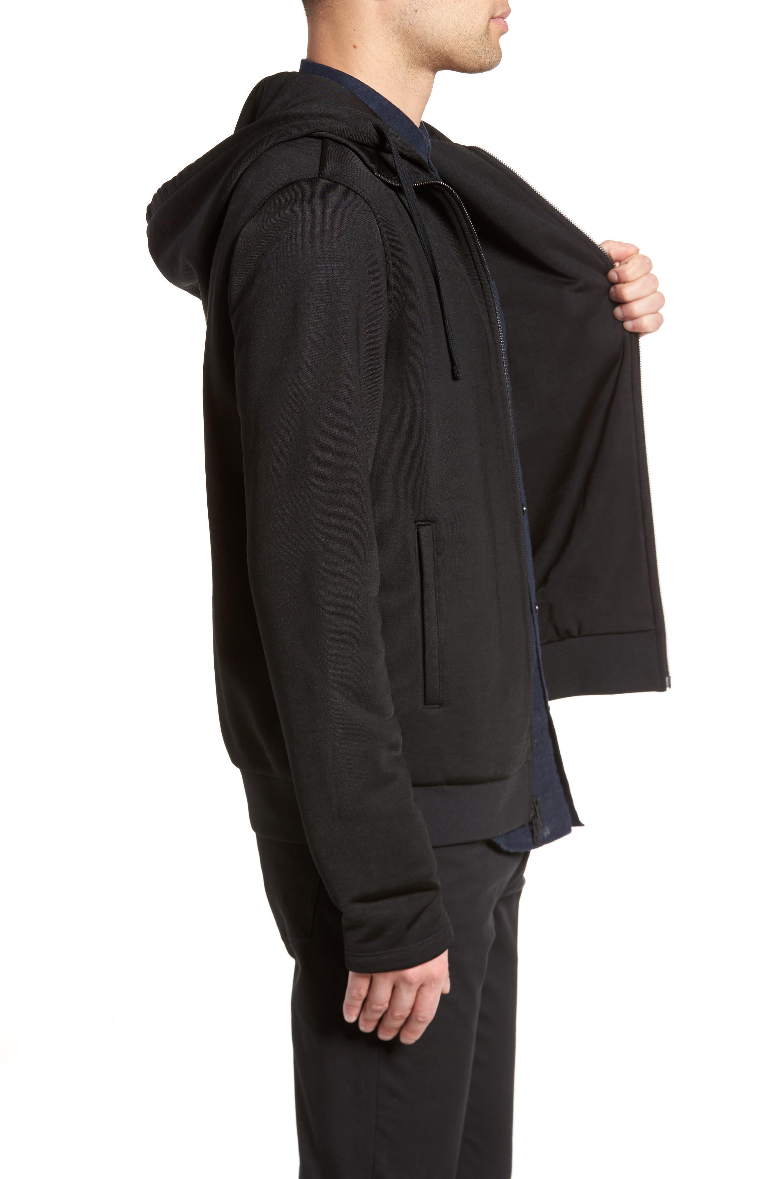 Alternate Image 3  - Vince Regular Fit Zip Hoodie