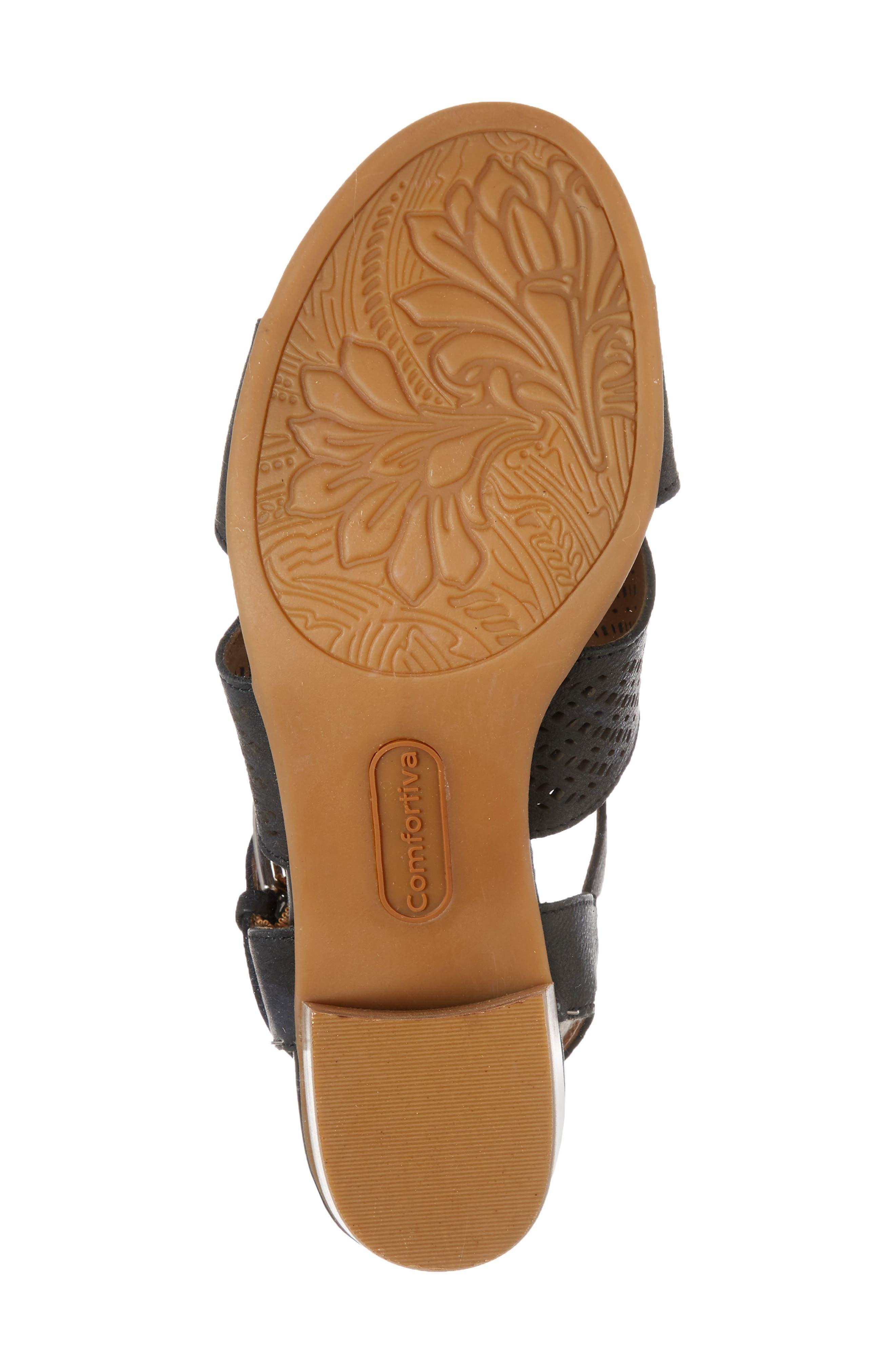 Alternate Image 6  - Comfortiva Amber Perforated Block Heel Sandal (Women)