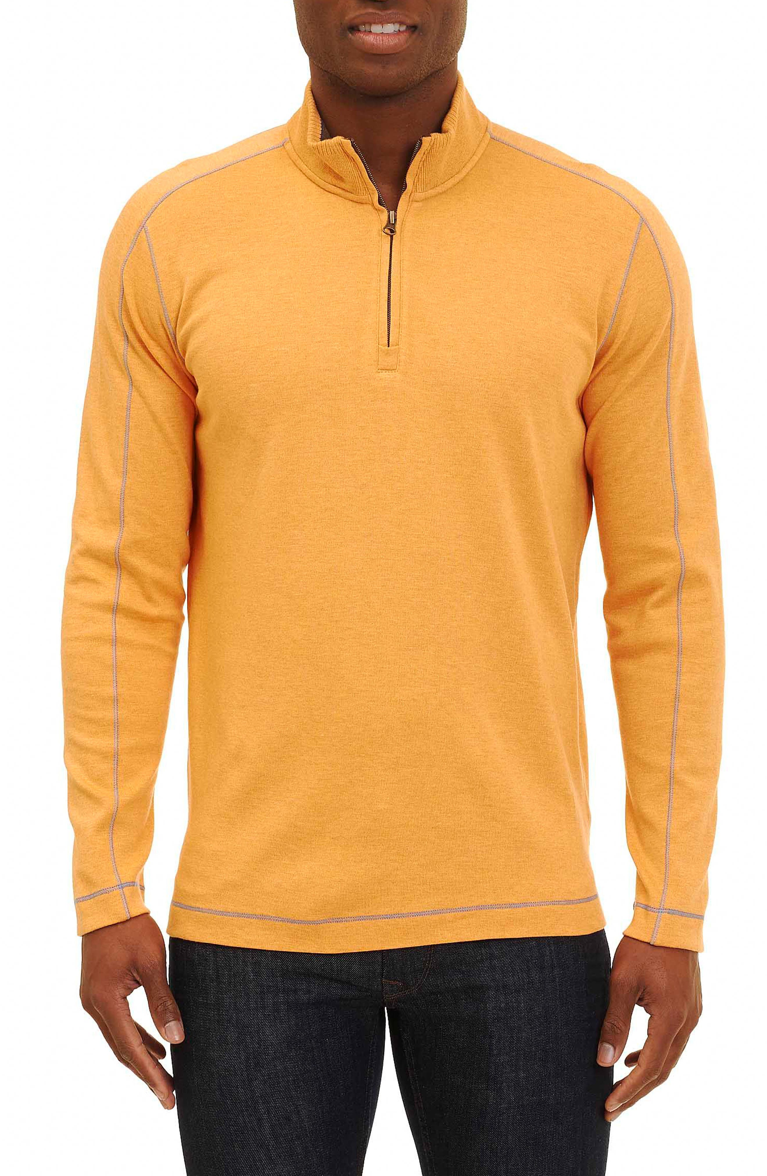 Robert Graham 'Elia' Regular Fit Quarter Zip Pullover