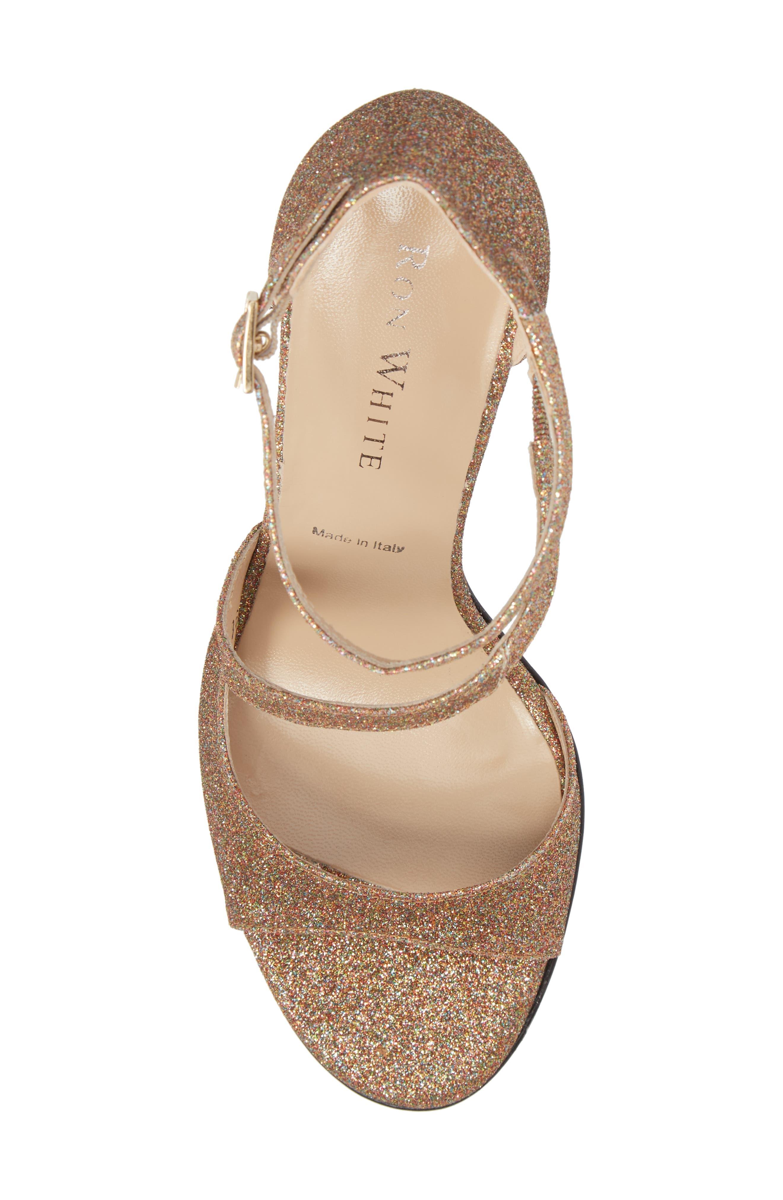 Alternate Image 5  - Ron White Vallie Glitter Sandal (Women)