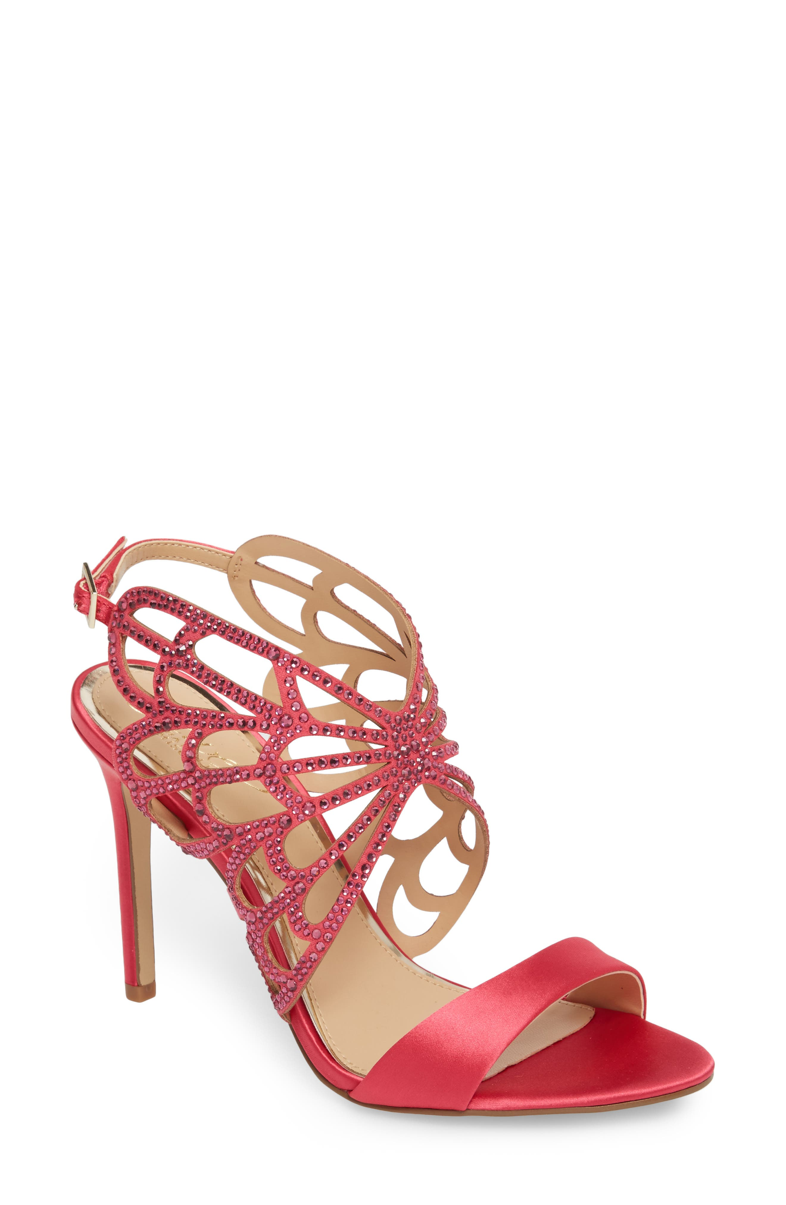 Jewel Badgley Mischka Taresa Crystal Embellished Butterfly Sandal (Women)