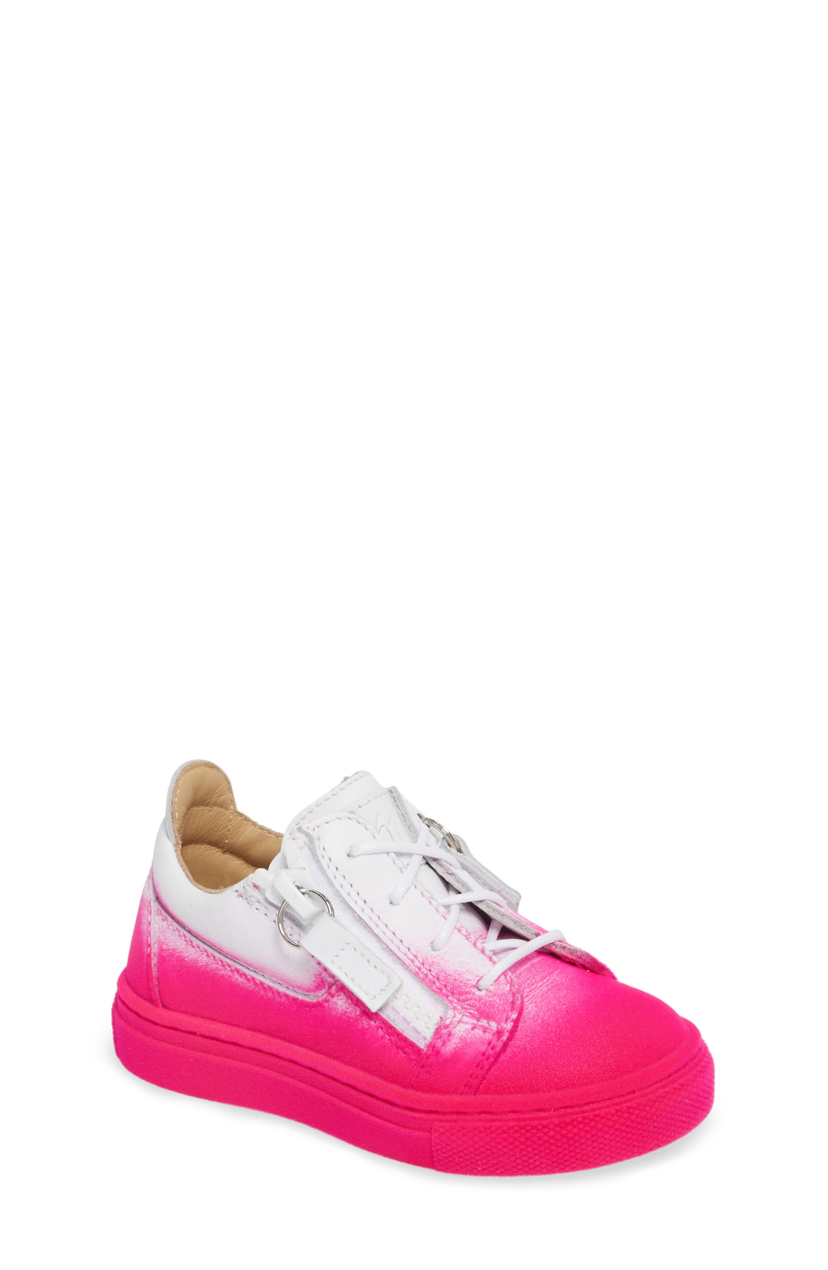 Main Image - Giuseppe Zanotti Smuggy Ombré Flocked Sneaker (Baby, Walker, Toddler & Little Kid)