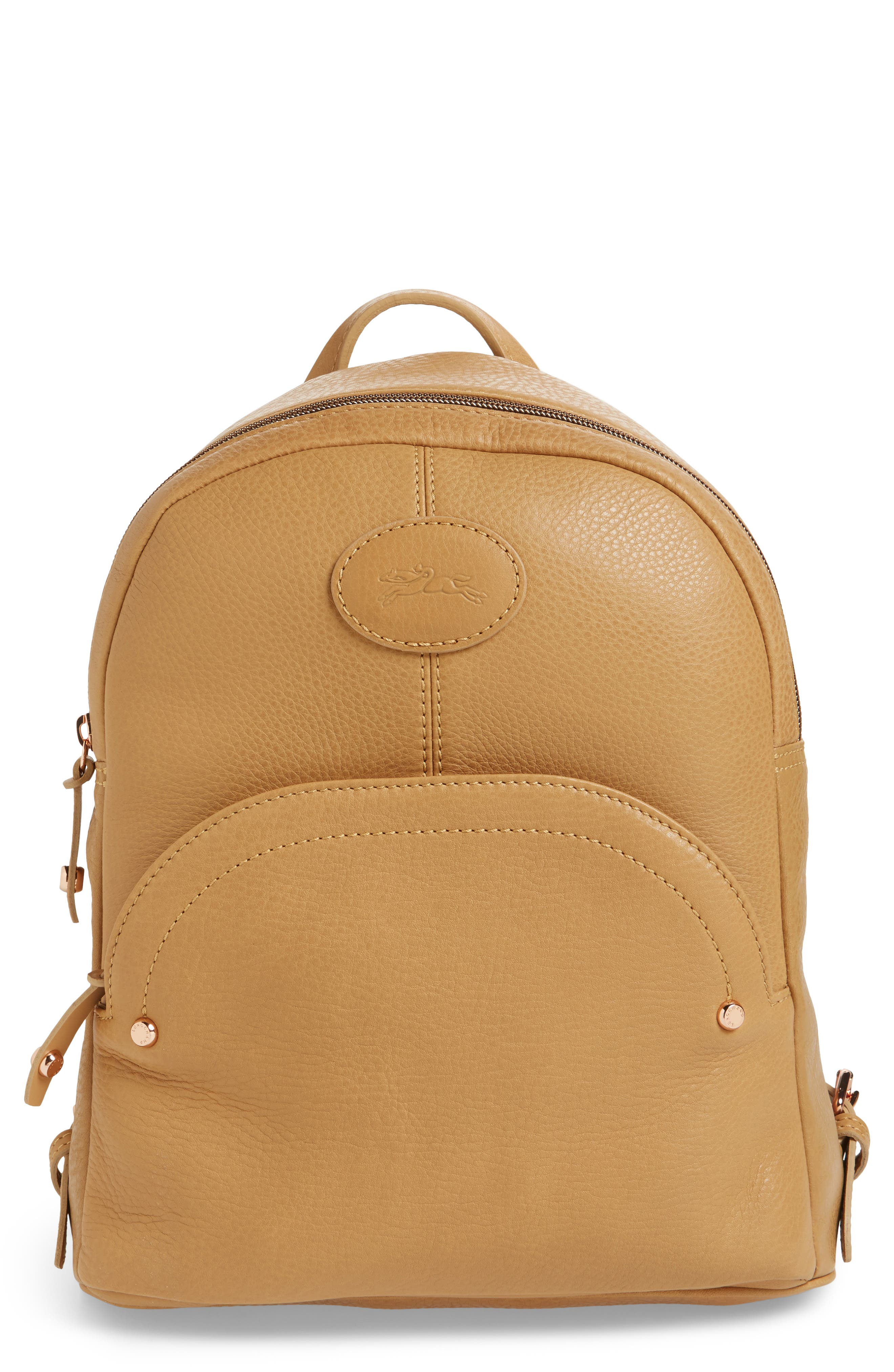 Alternate Image 1 Selected - Longchamp Mystery Leather Backpack