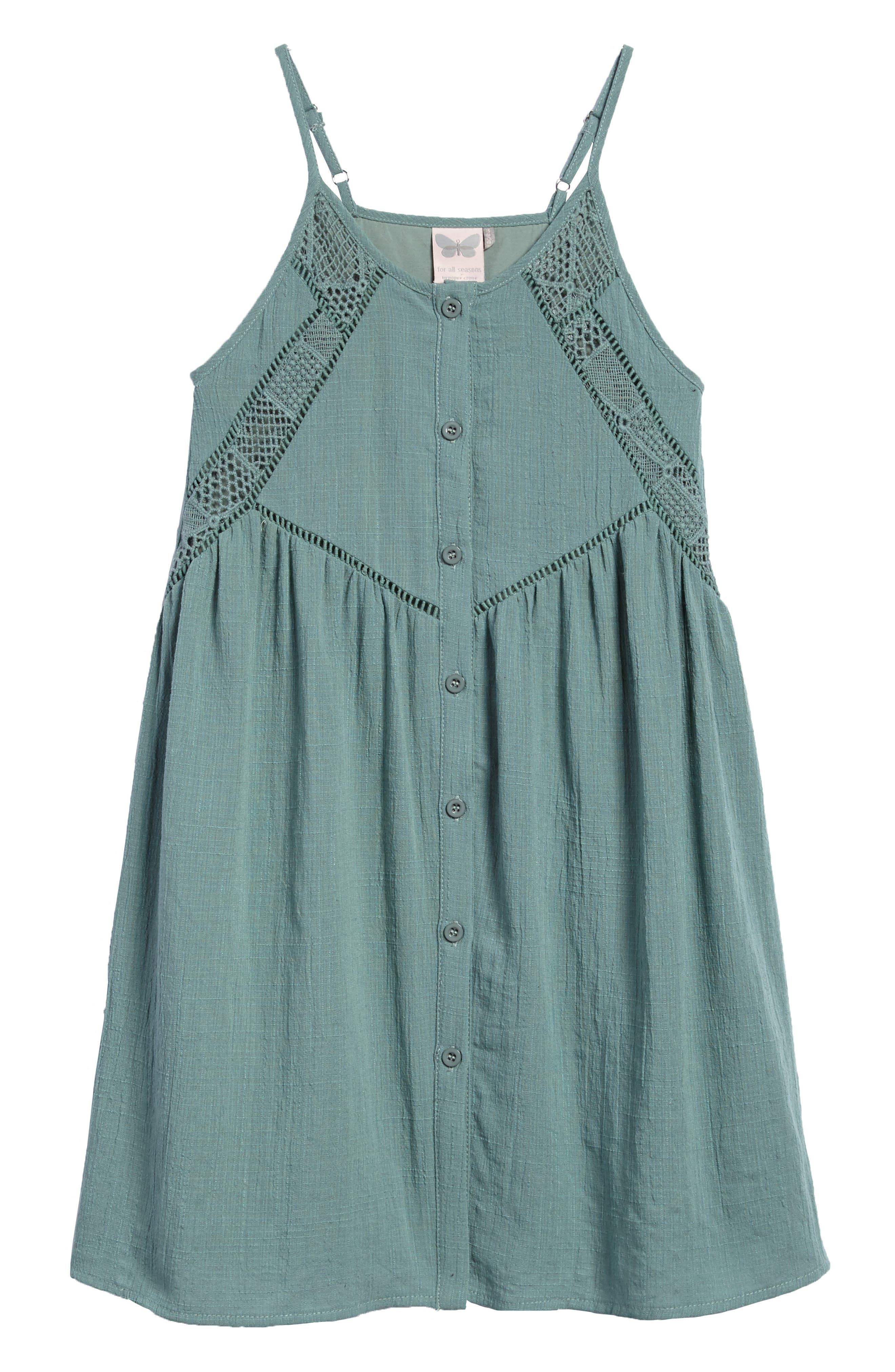 For All Season Woven Tank Dress,                         Main,                         color, Green