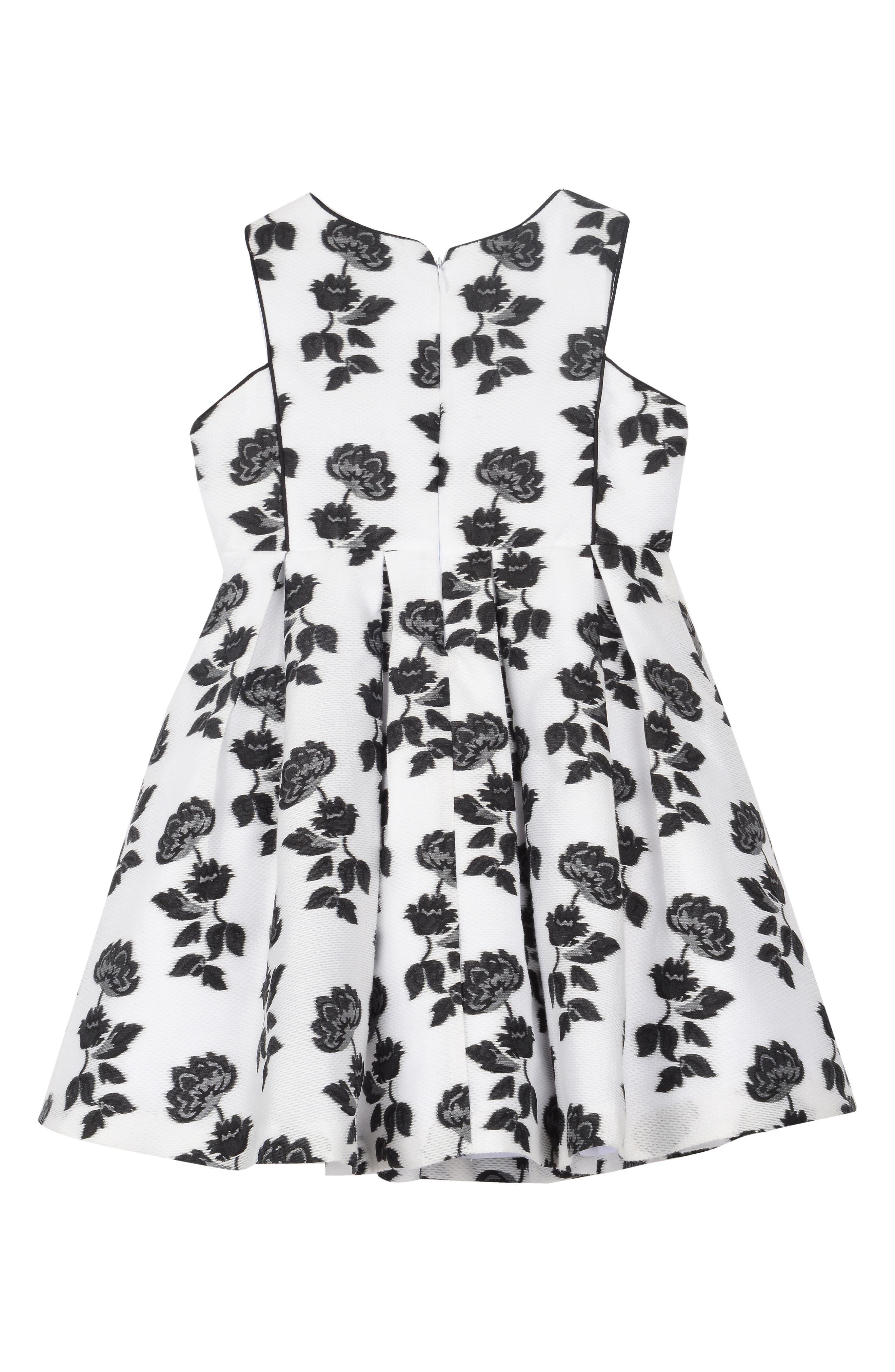Burnout Floral Mesh Dress,                             Alternate thumbnail 2, color,                             White/ Black