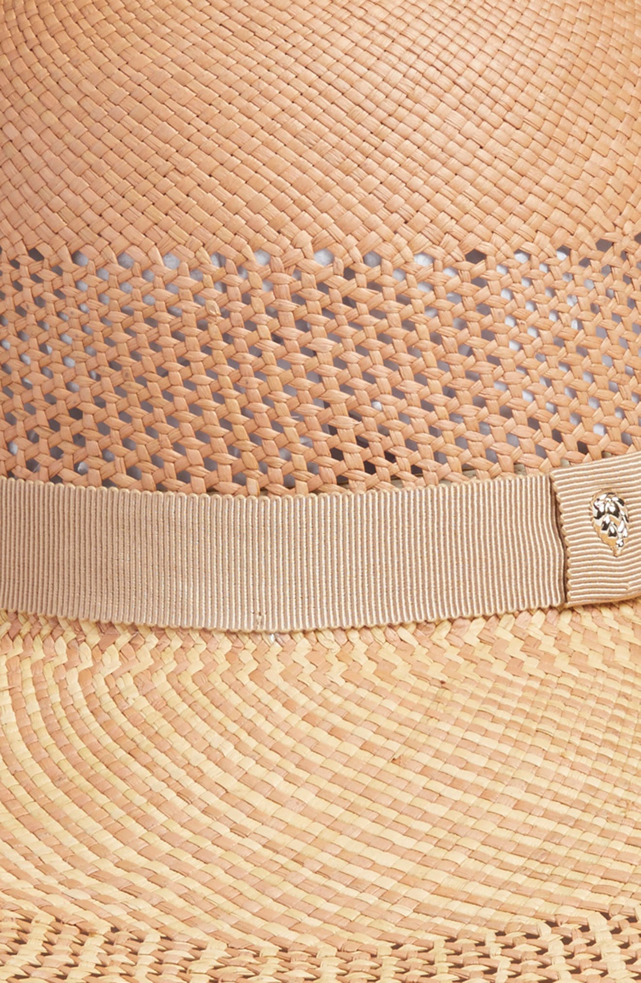 Azuay Palm Sun Hat,                             Alternate thumbnail 2, color,                             Rosetta Almond/ Nude