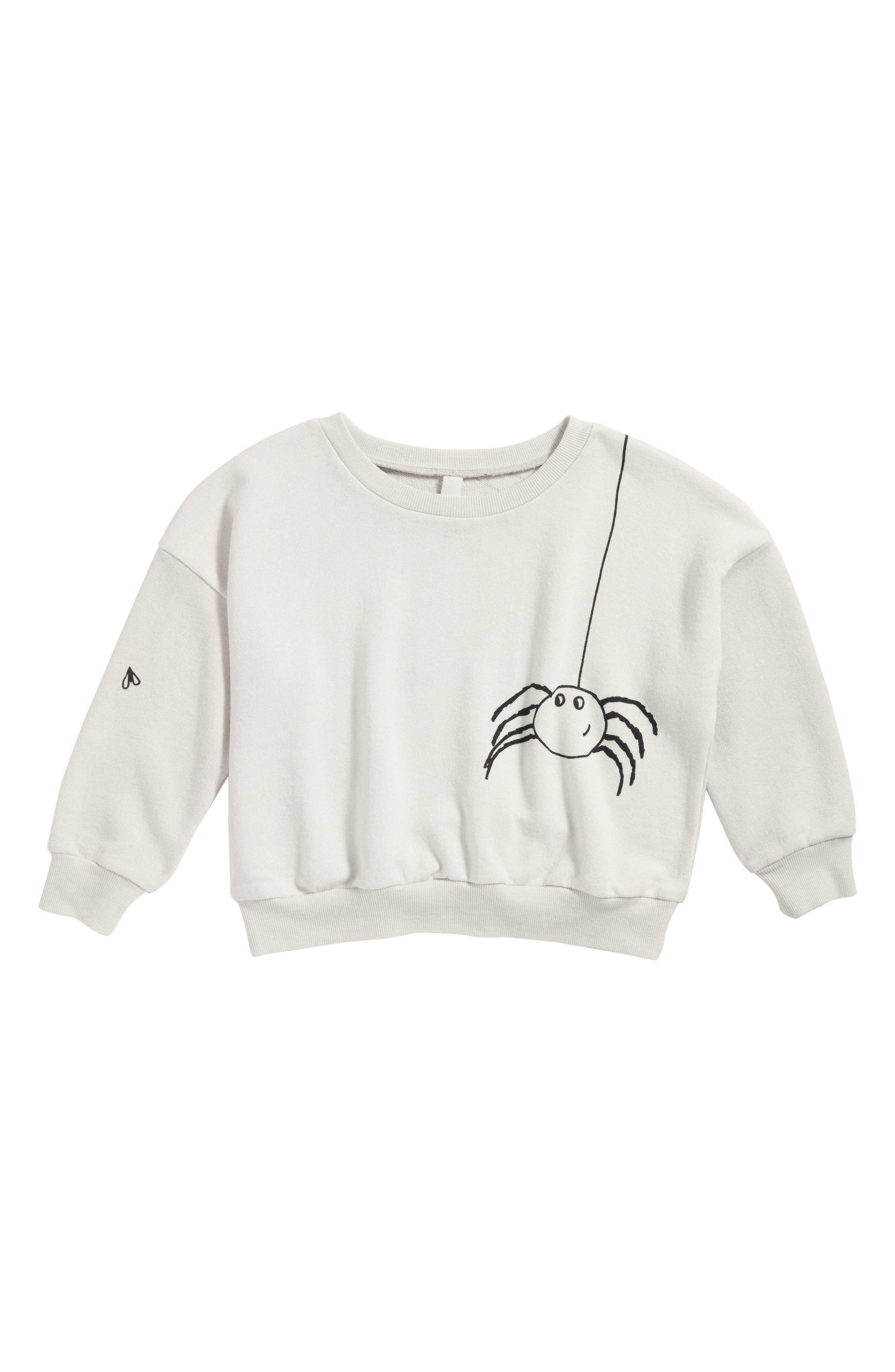 Graphic Sweatshirt,                         Main,                         color, Grey Lunar Spider