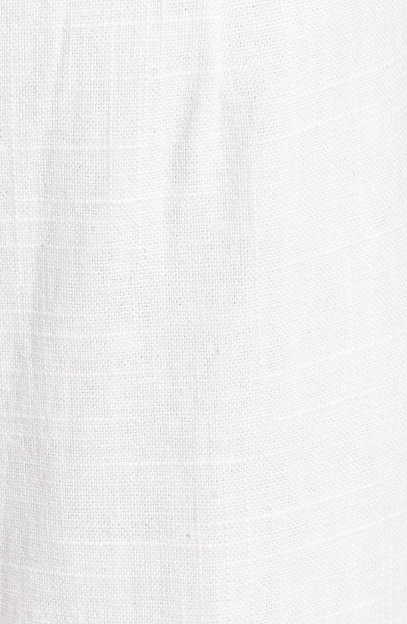 Linen High Waist Crop Pants,                             Alternate thumbnail 7, color,                             White