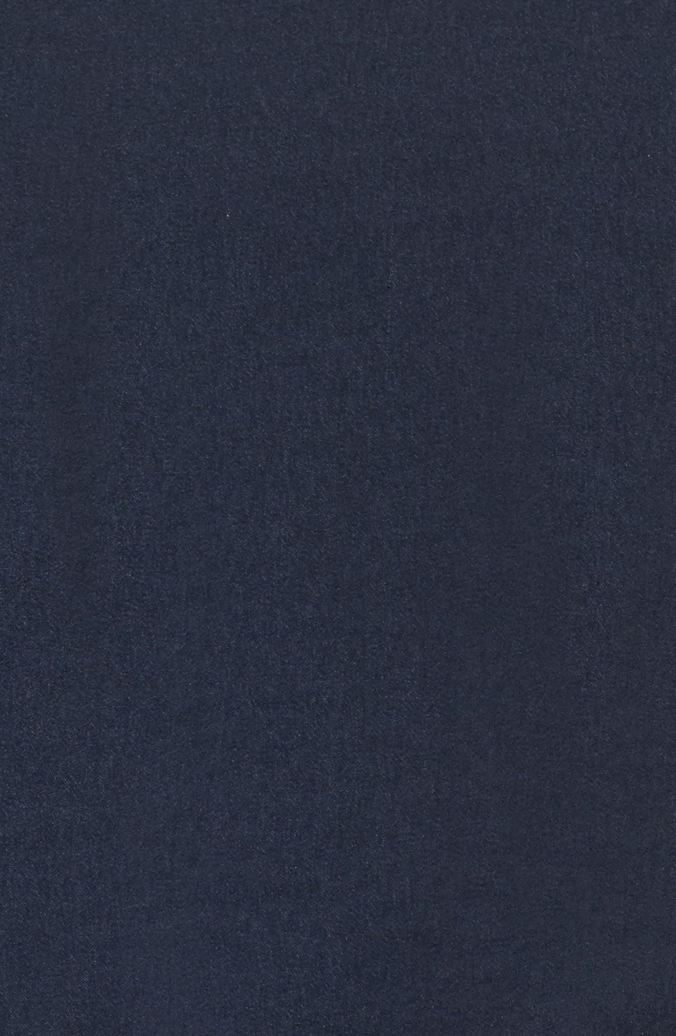 Juliette Cold Shoulder Ruffle Top,                             Alternate thumbnail 6, color,                             Navy