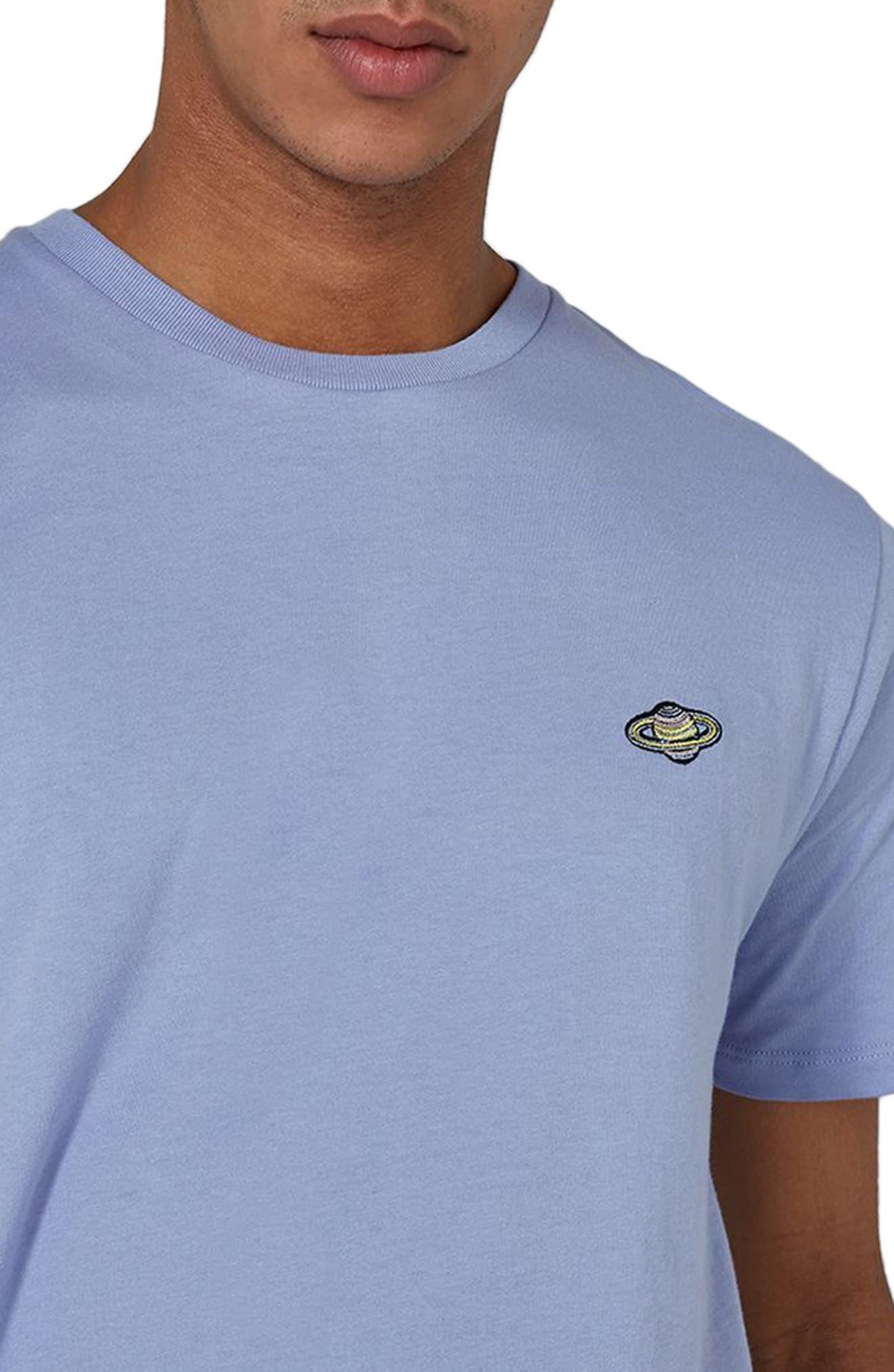 Saturn Logo T-Shirt,                             Alternate thumbnail 3, color,                             Purple