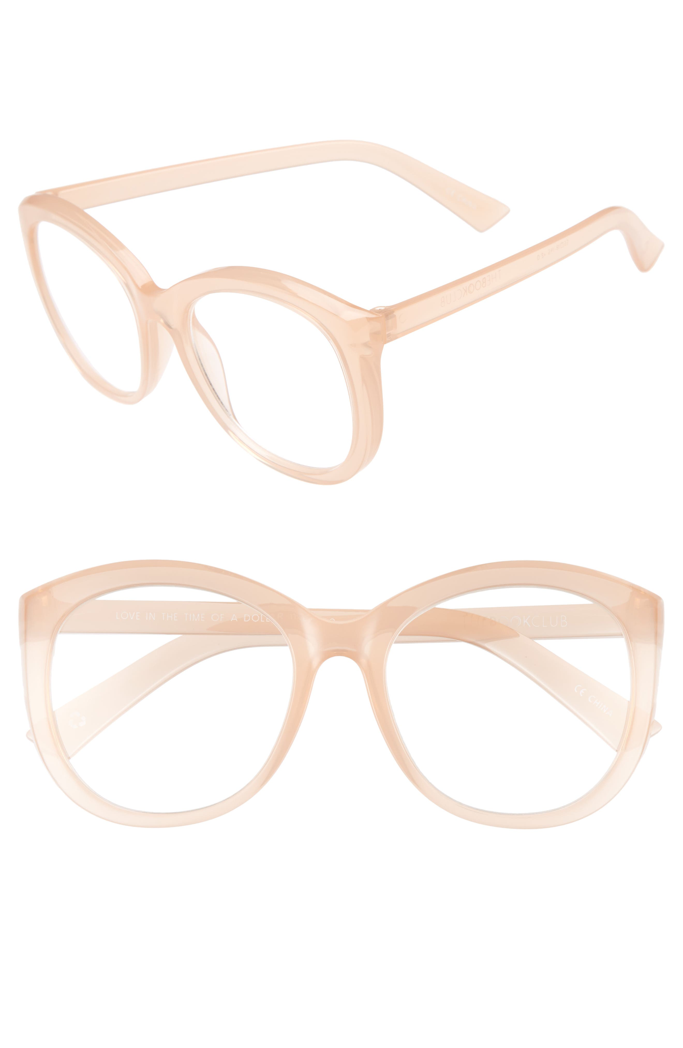 Love In The Time Of A Dollar 55mm Reading Glasses,                         Main,                         color, Tea Rose