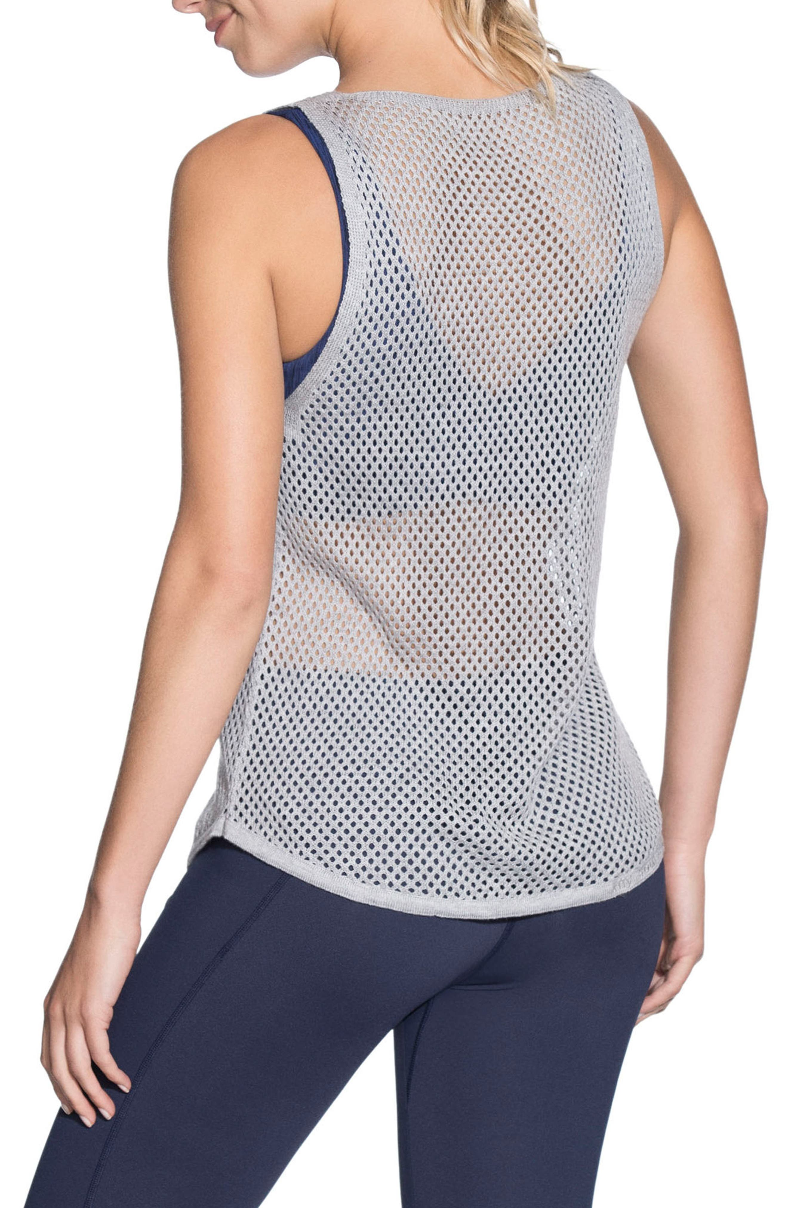 Mystic 1st Layer Mesh Tank,                             Alternate thumbnail 2, color,                             Light Gray
