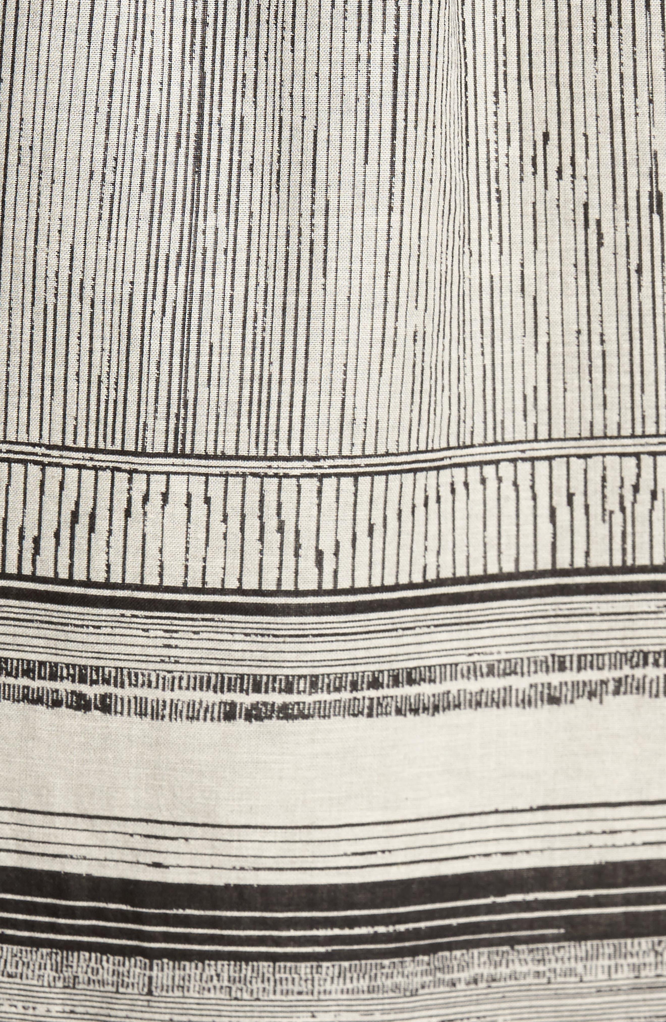 Murphy Stripe Short Sleeve Sport Shirt,                             Alternate thumbnail 7, color,                             Black/ White