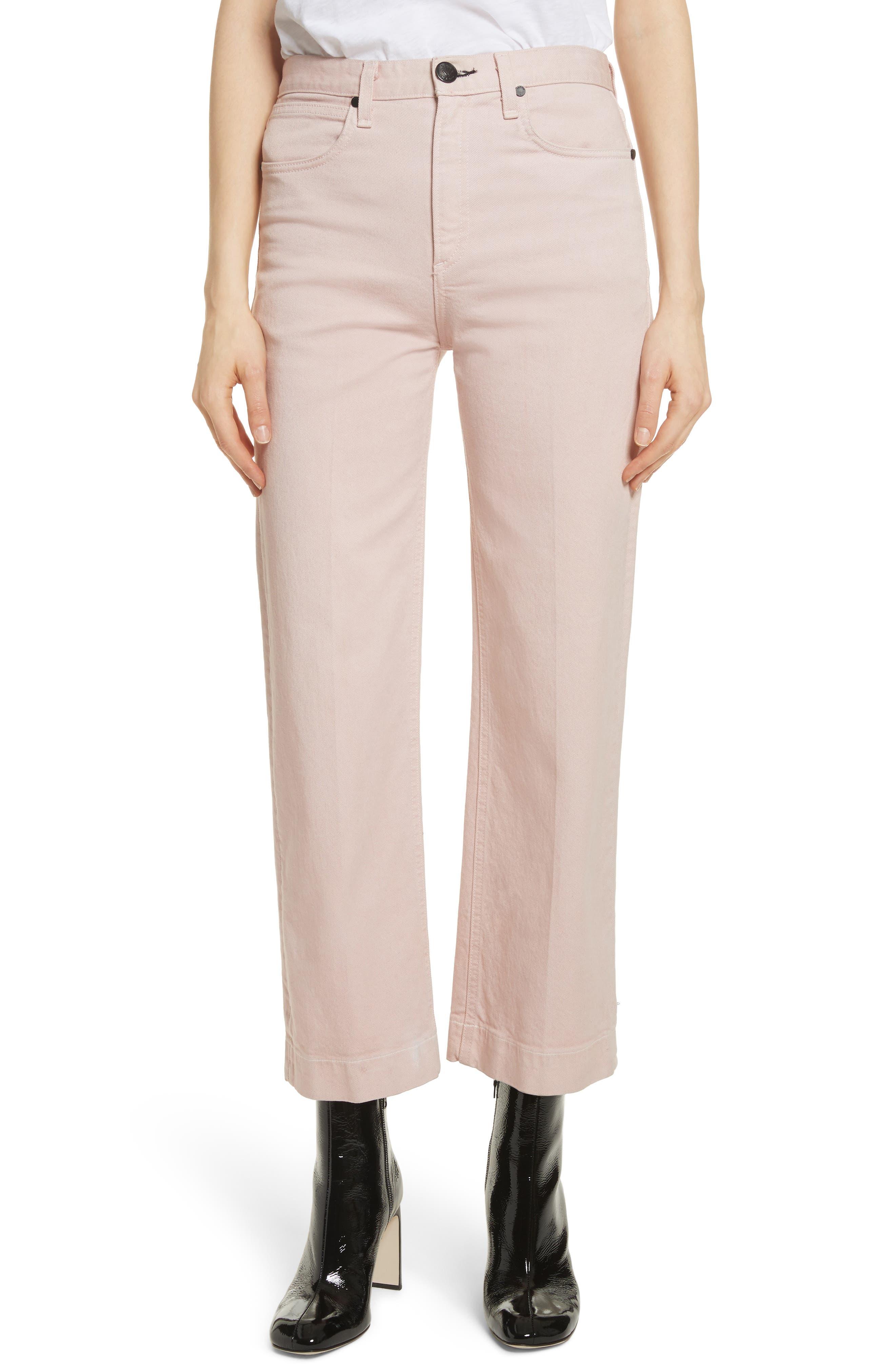 rag & bone/JEAN Justine High Waist Trouser Jeans (Blush Twill)