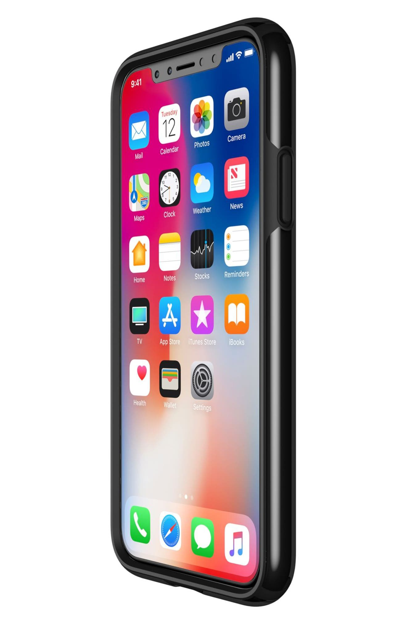 Transparent iPhone X Case,                             Alternate thumbnail 7, color,                             Clear/ Black
